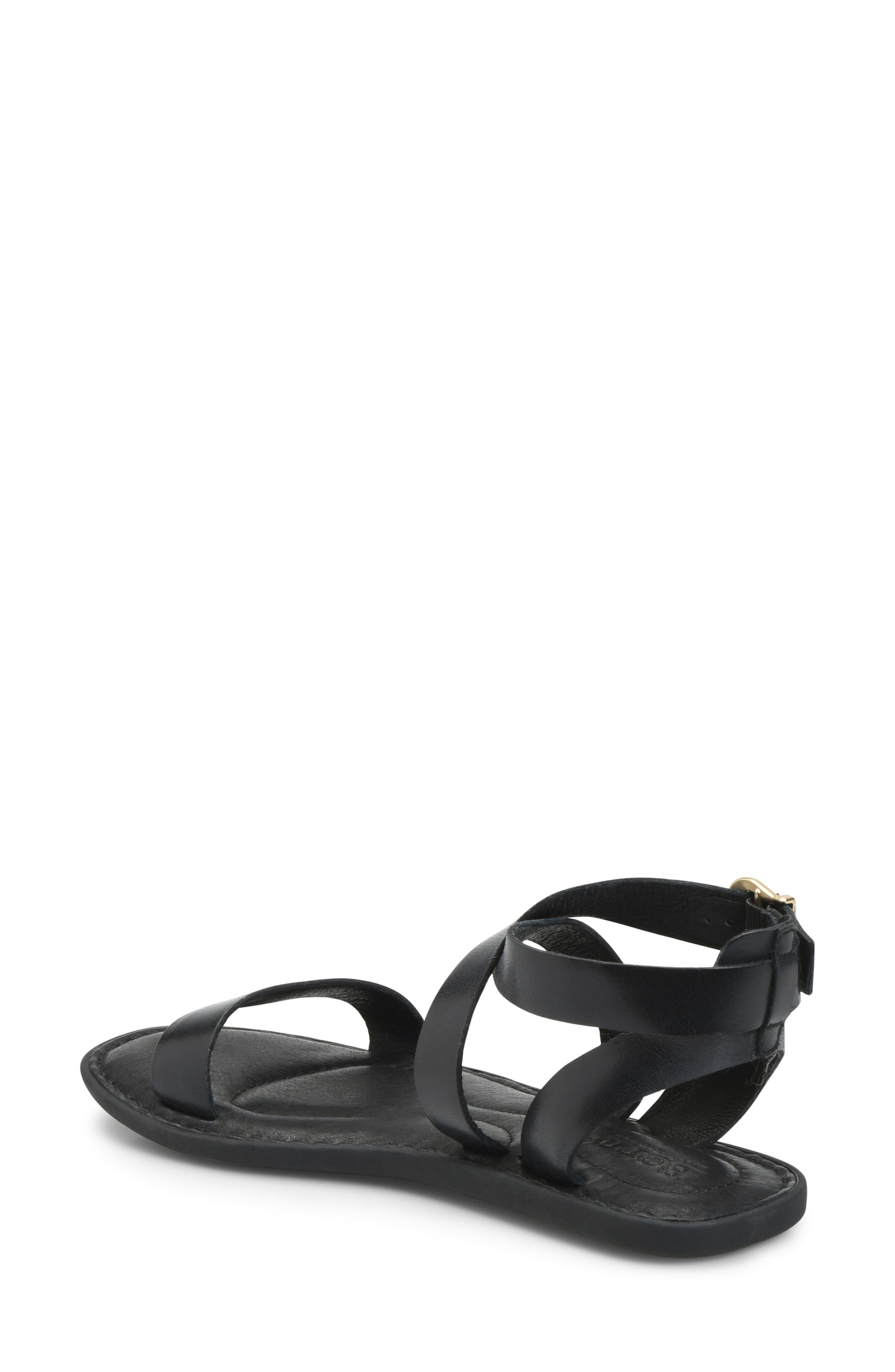 86c3c89d17b Born Børn Oak Ankle Strap Sandal in Black - Lyst