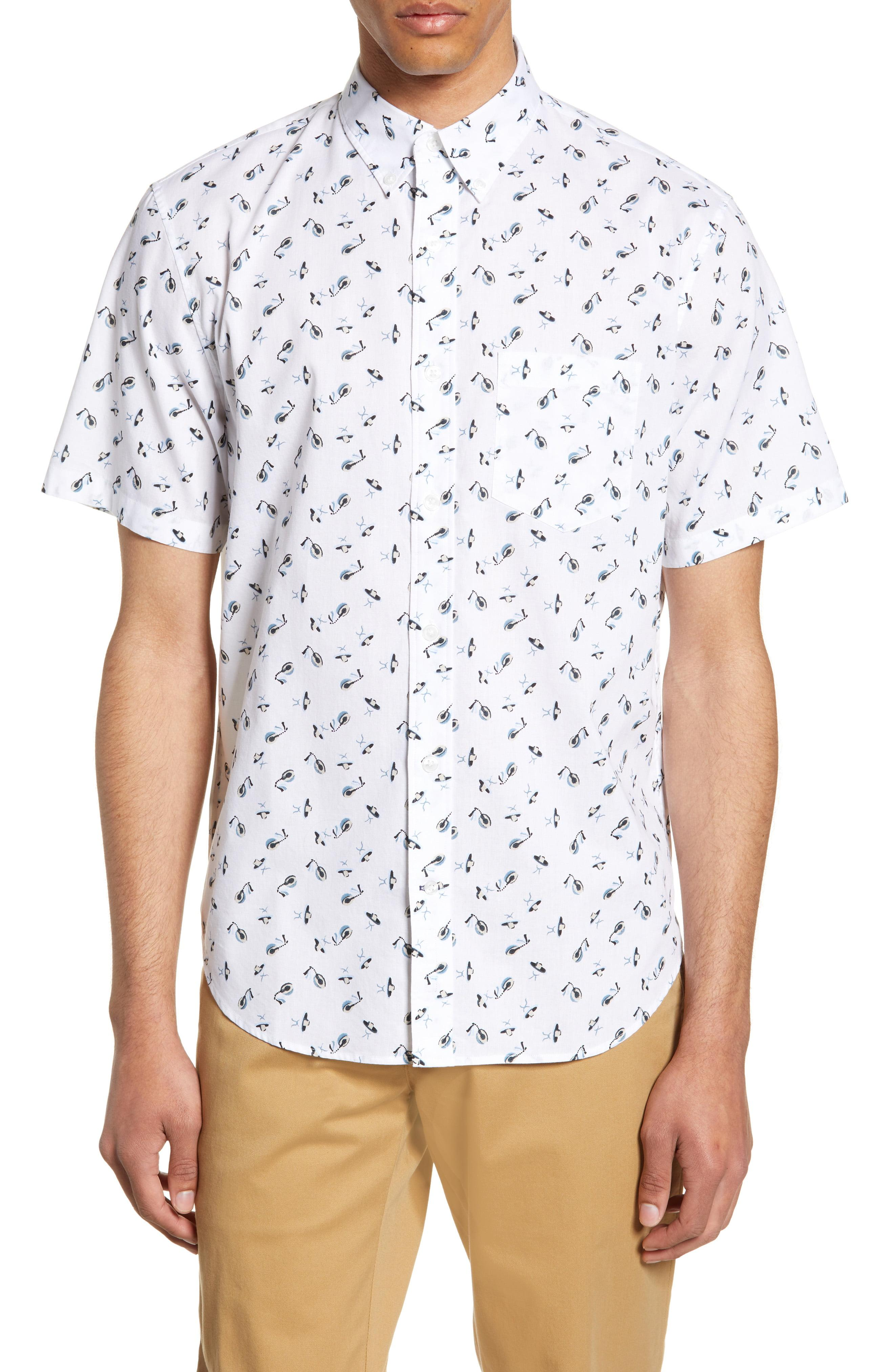590c807dbd0 Lyst - Club Monaco Slim Fit Sombrero Print Sport Shirt in White for Men