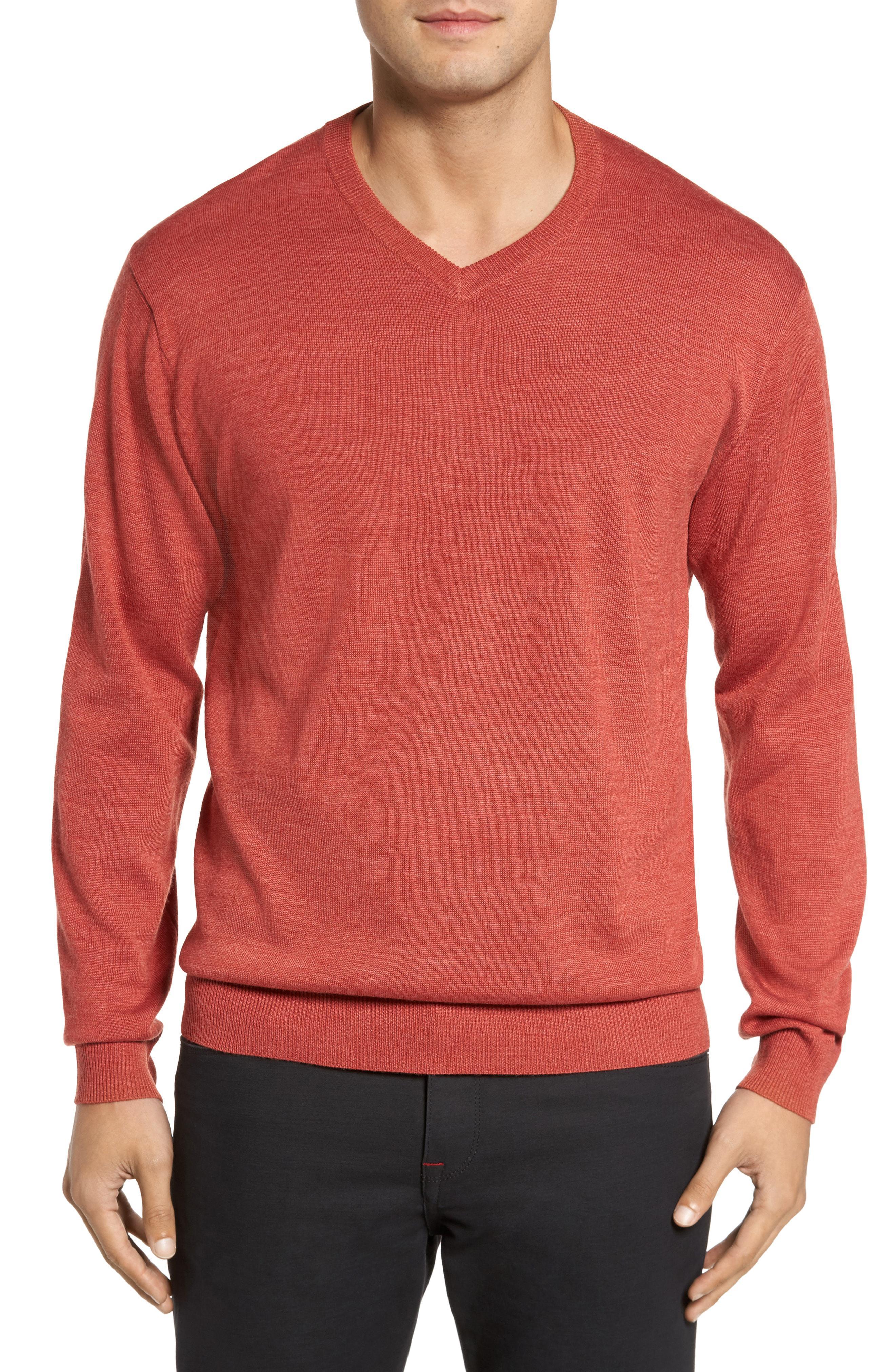 Lyst Cutter Buck Douglas Merino Wool Blend V Neck Sweater In