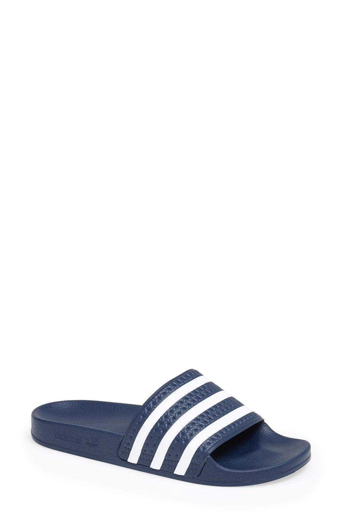 07301facb3c681 Adidas - Blue Adilette Slide Sandals - Lyst. View fullscreen