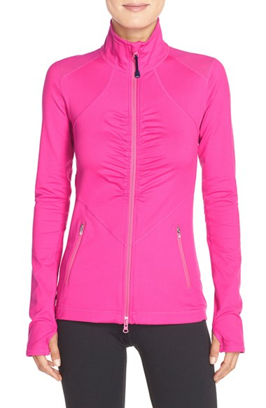 Lyst Zella Grace Ruched Jacket In Pink