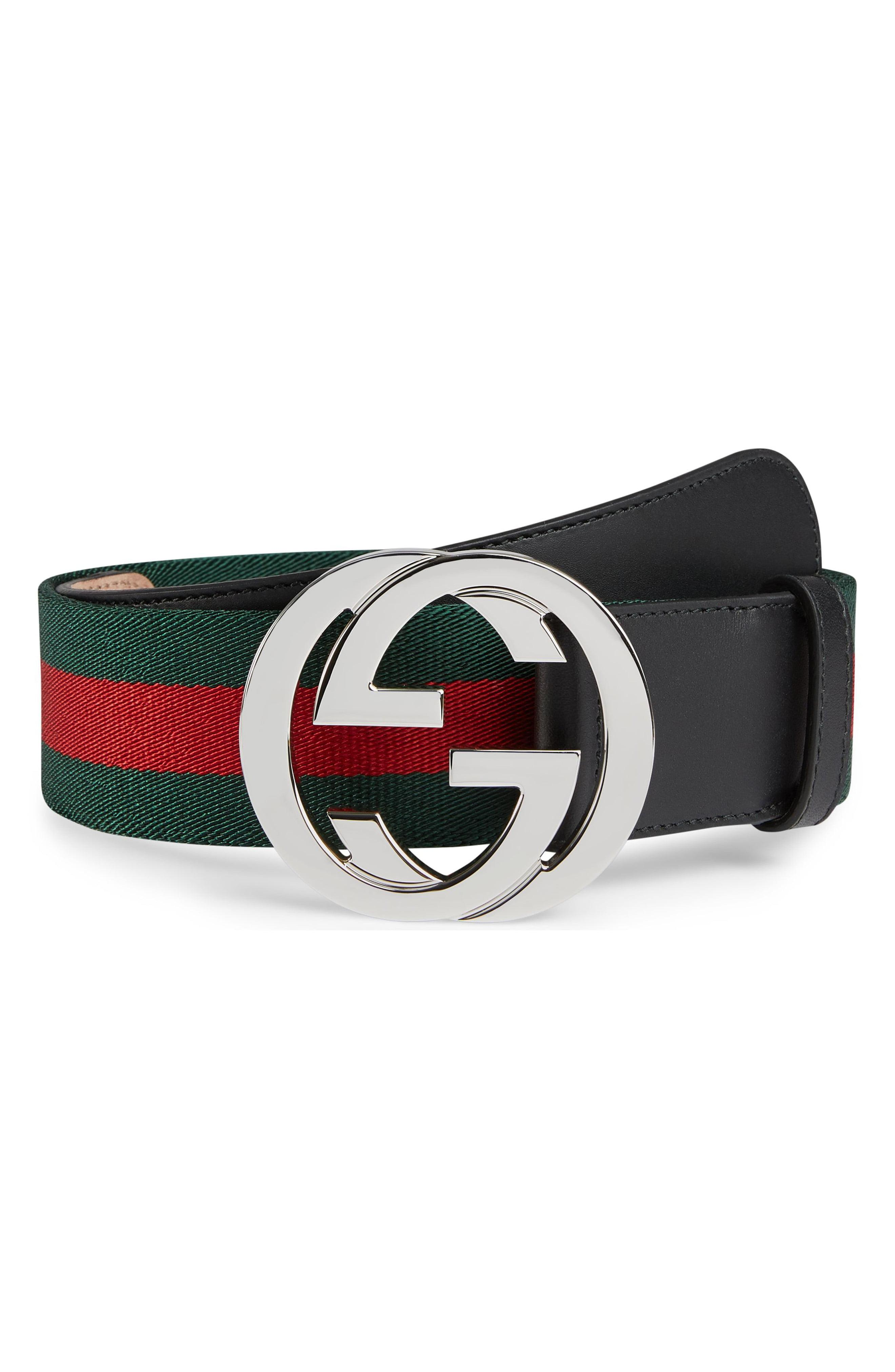 9ddd4b0ee46a Lyst - Gucci Web Belt And Gg Buckle in Black for Men - Save 14%