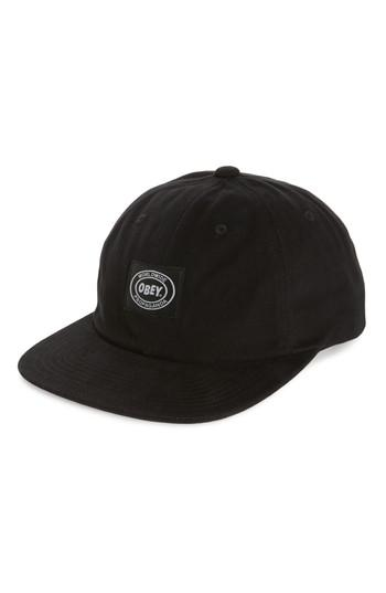 1d733fed3bf Lyst - Obey Stick Up Snapback Cap in Black for Men