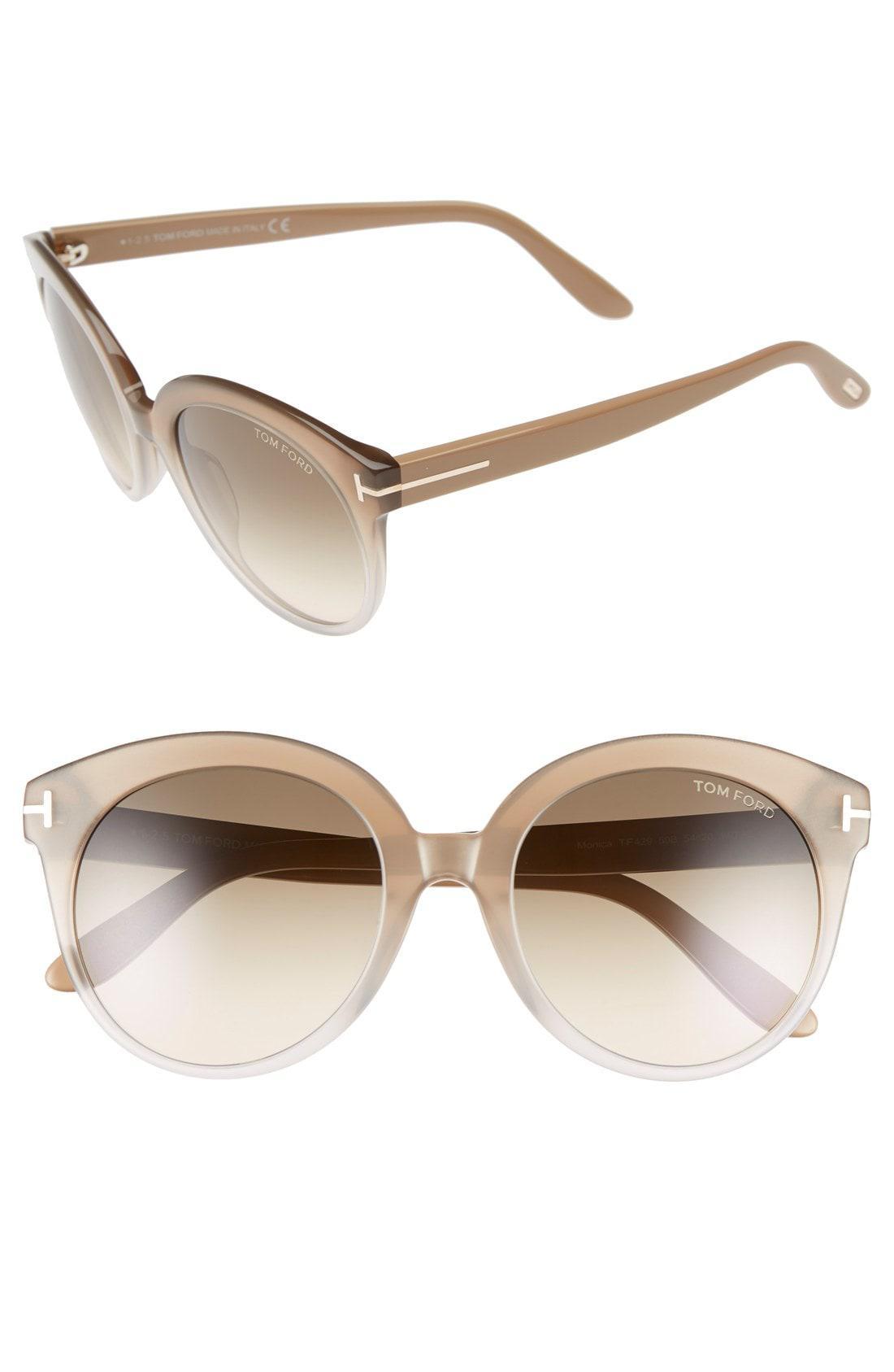 aa409db51d6c Lyst - Tom Ford  monica  54mm Retro Sunglasses - in Brown