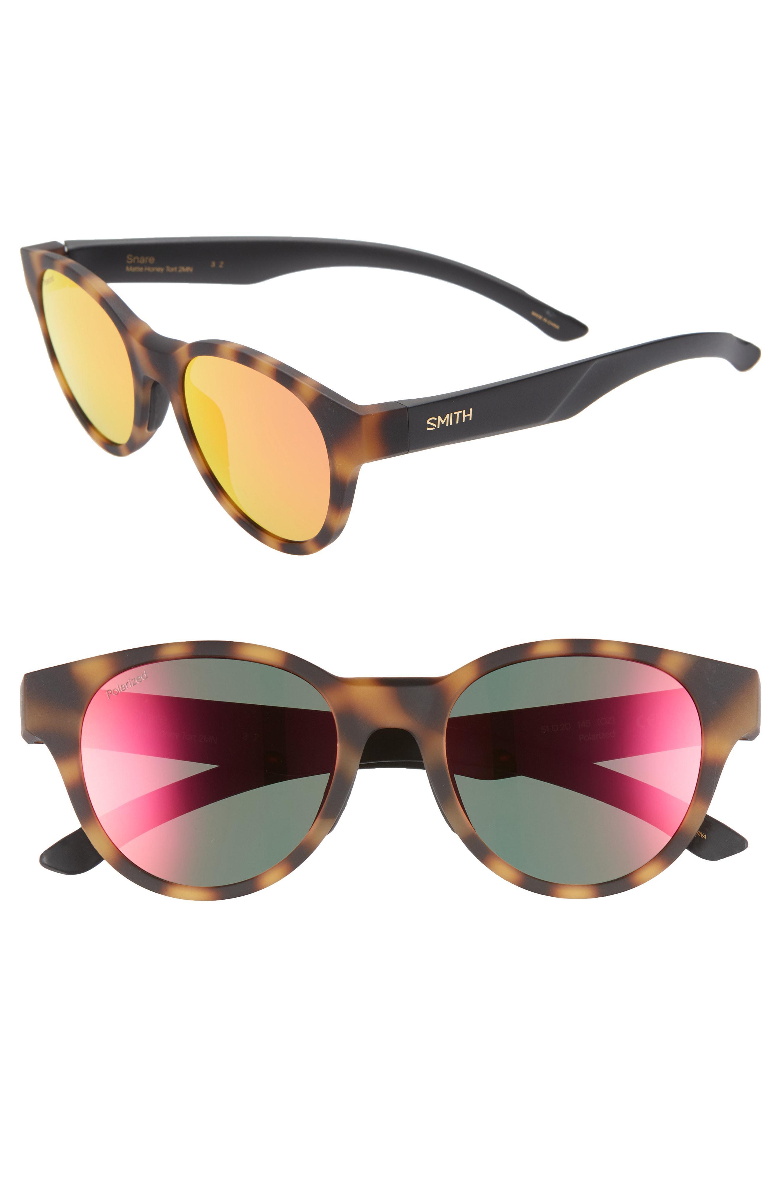 6535c619103 Smith - Gray Snare 51mm Polarized Matte Round Sunglasses - Lyst. View  fullscreen