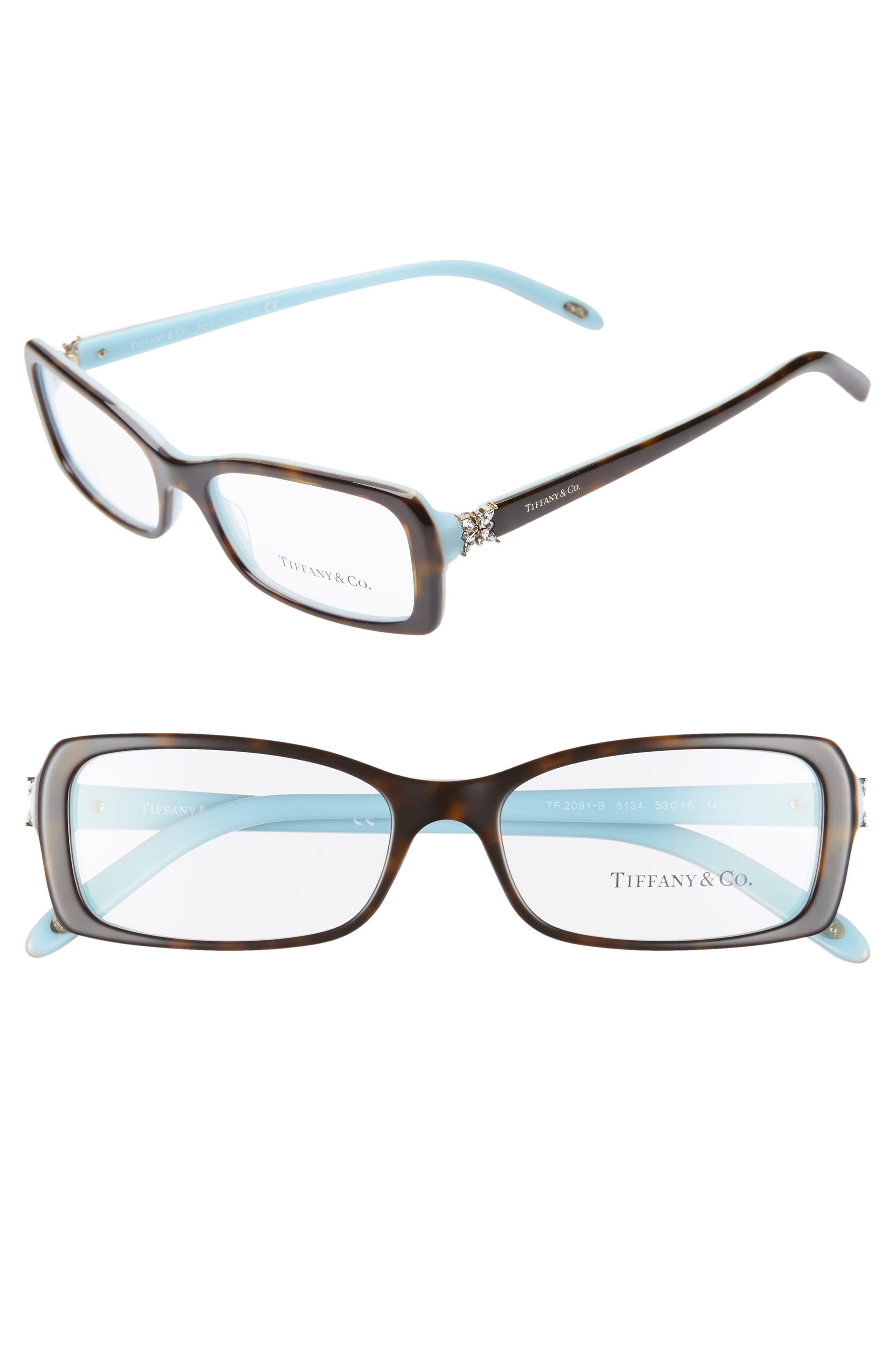 11954b4ba5b6 Tiffany & Co. 53mm Optical Glasses - Top Havana/ Blue in Blue - Lyst