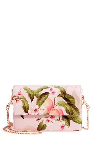 0e99a5423e Ted Baker Disha Peach Blossom Faux Leather Crossbody Bag in Pink - Lyst