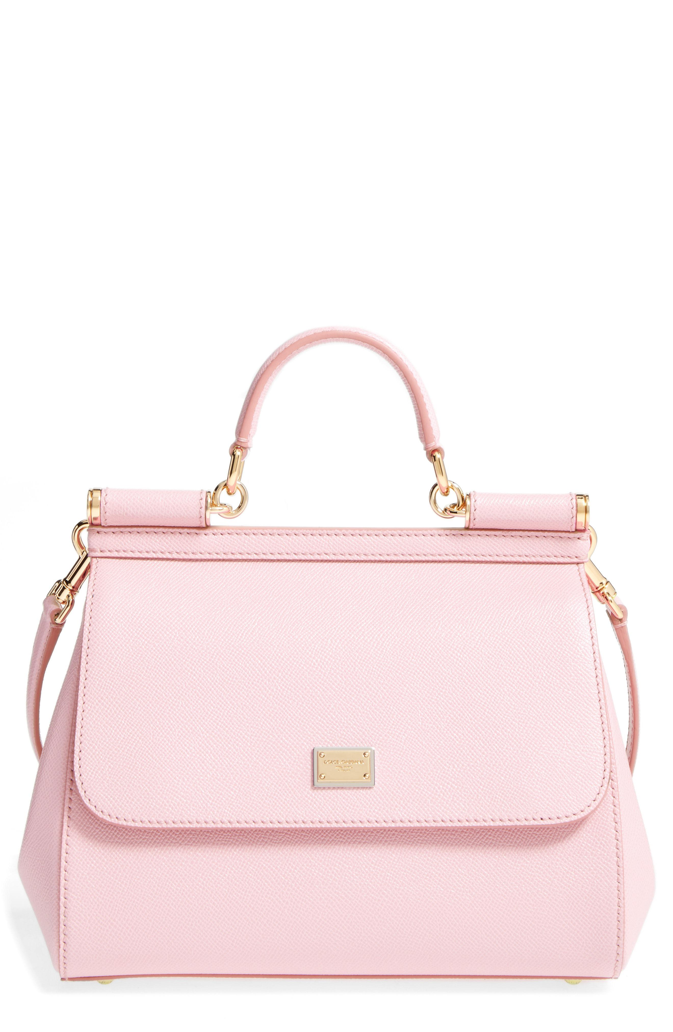 Lyst - Dolce   Gabbana  small Miss Sicily  Leather Satchel in Pink ac49cffcdb