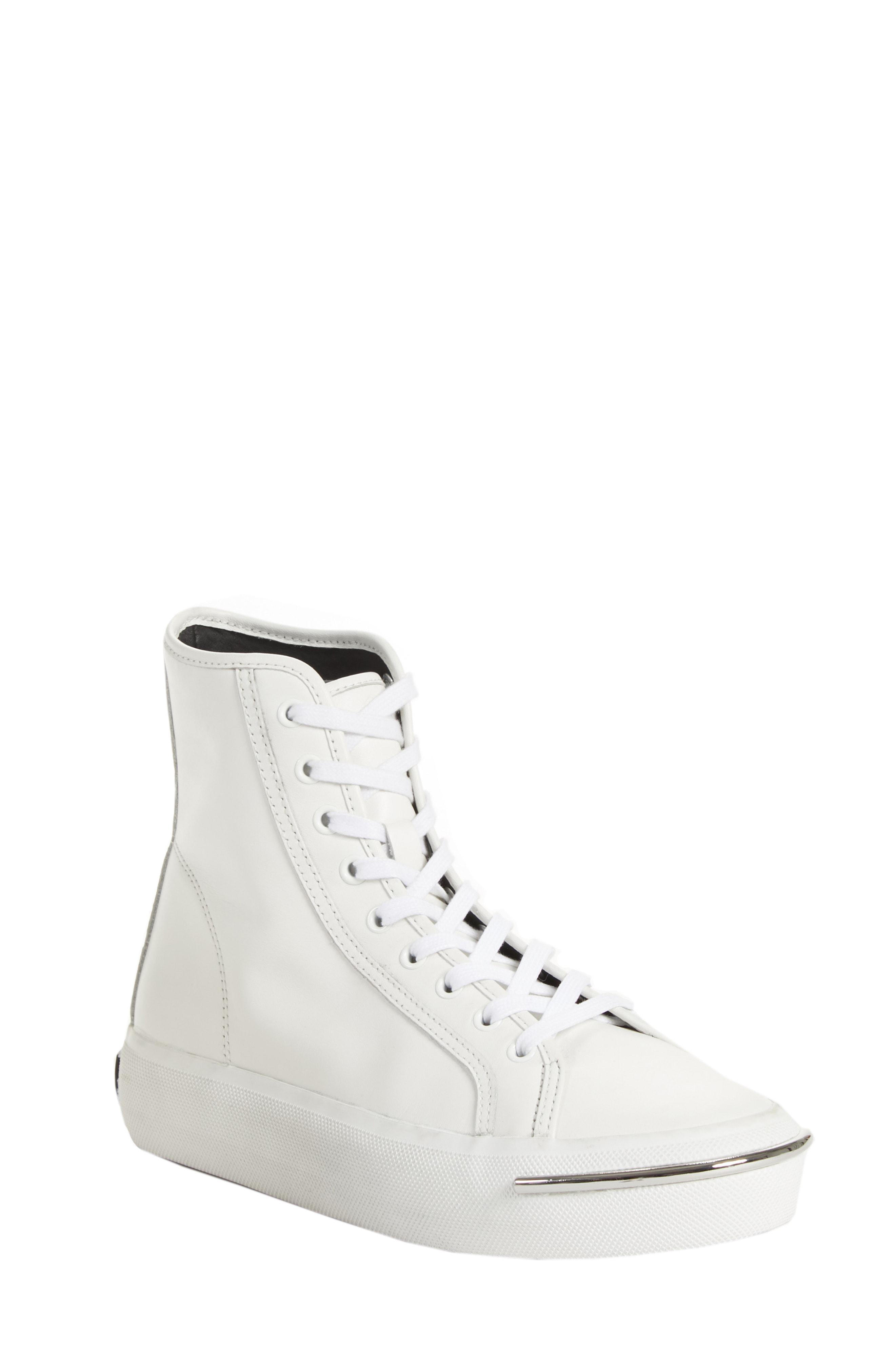 045e137e7763 Lyst - Alexander Wang Pia High Top Sneaker in White