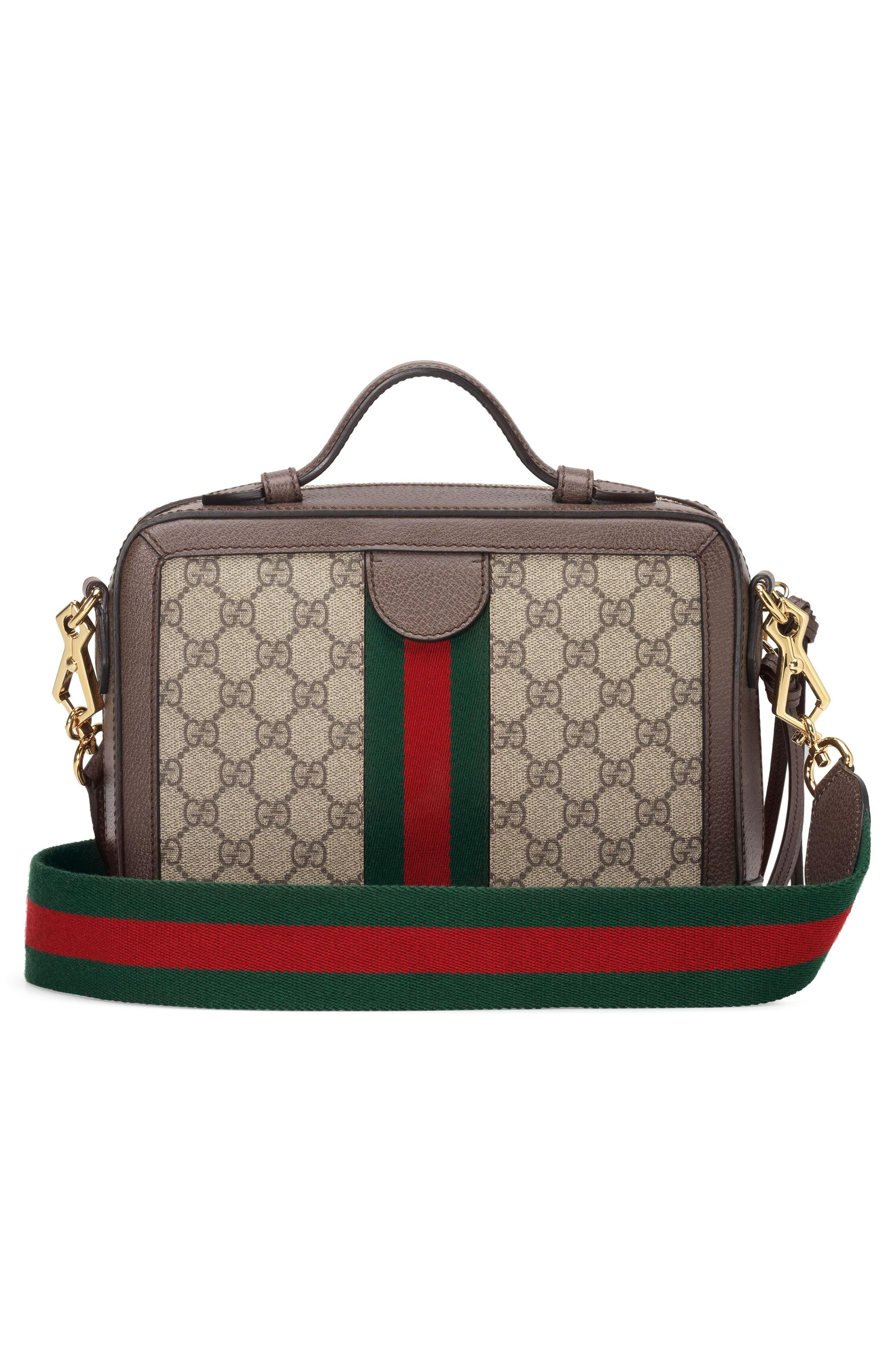 5d6081886 Gucci Small Ophidia Gg Supreme Canvas Shoulder Bag - in Brown - Lyst