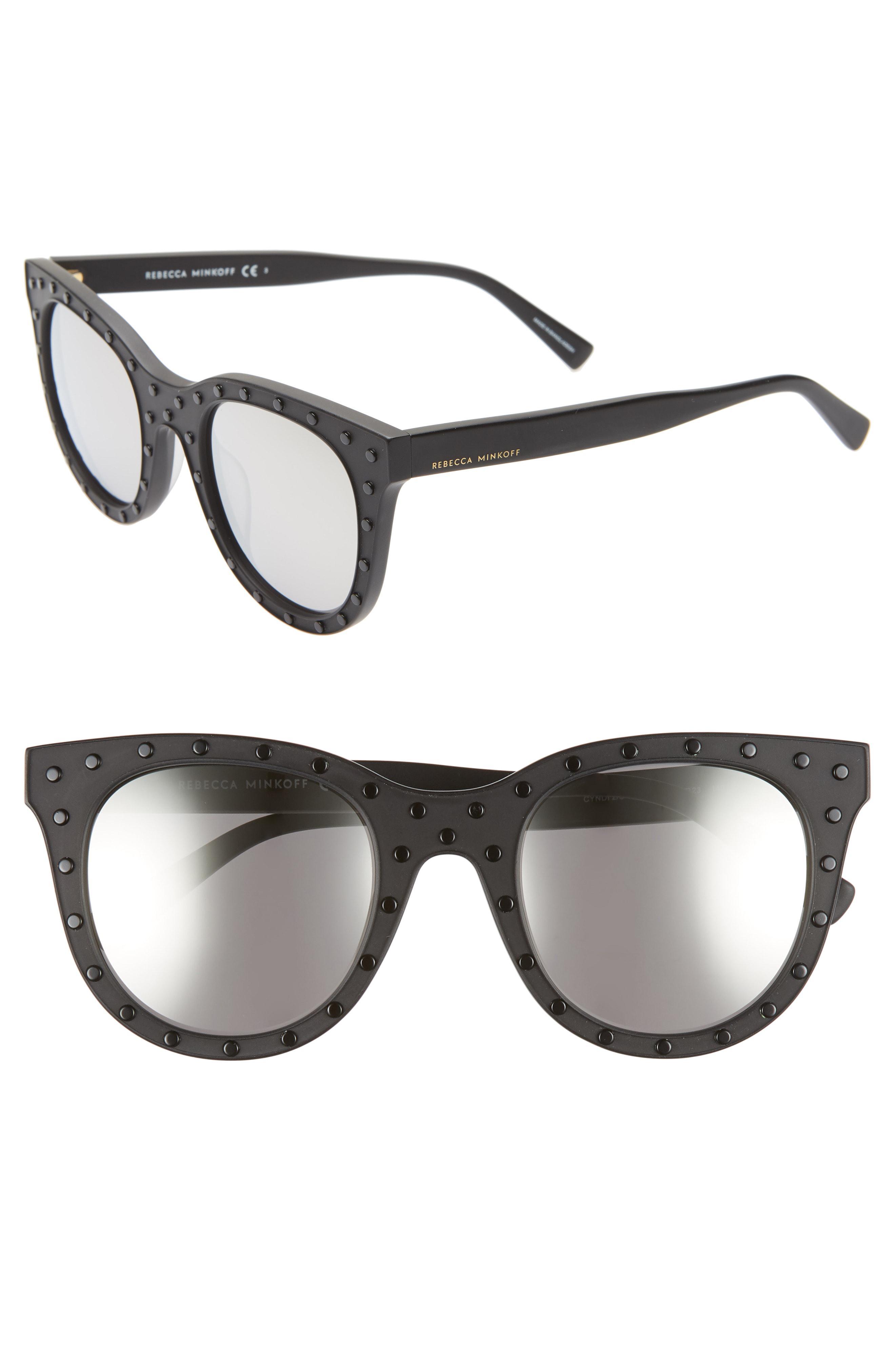 6c6435c6e2835 Rebecca Minkoff - Multicolor Cyndi2 50mm Studded Sunglasses - - Lyst. View  fullscreen