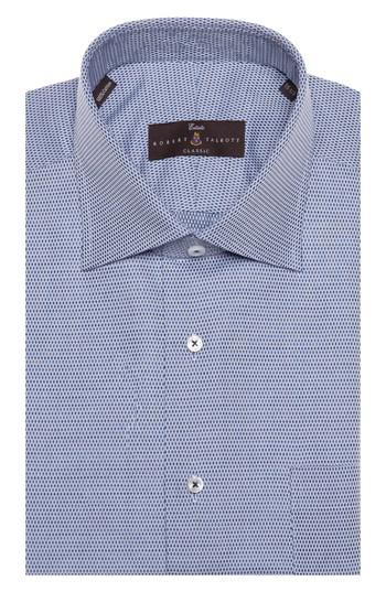 Lyst robert talbott tailored fit geometric dress shirt for Nordstrom custom dress shirts