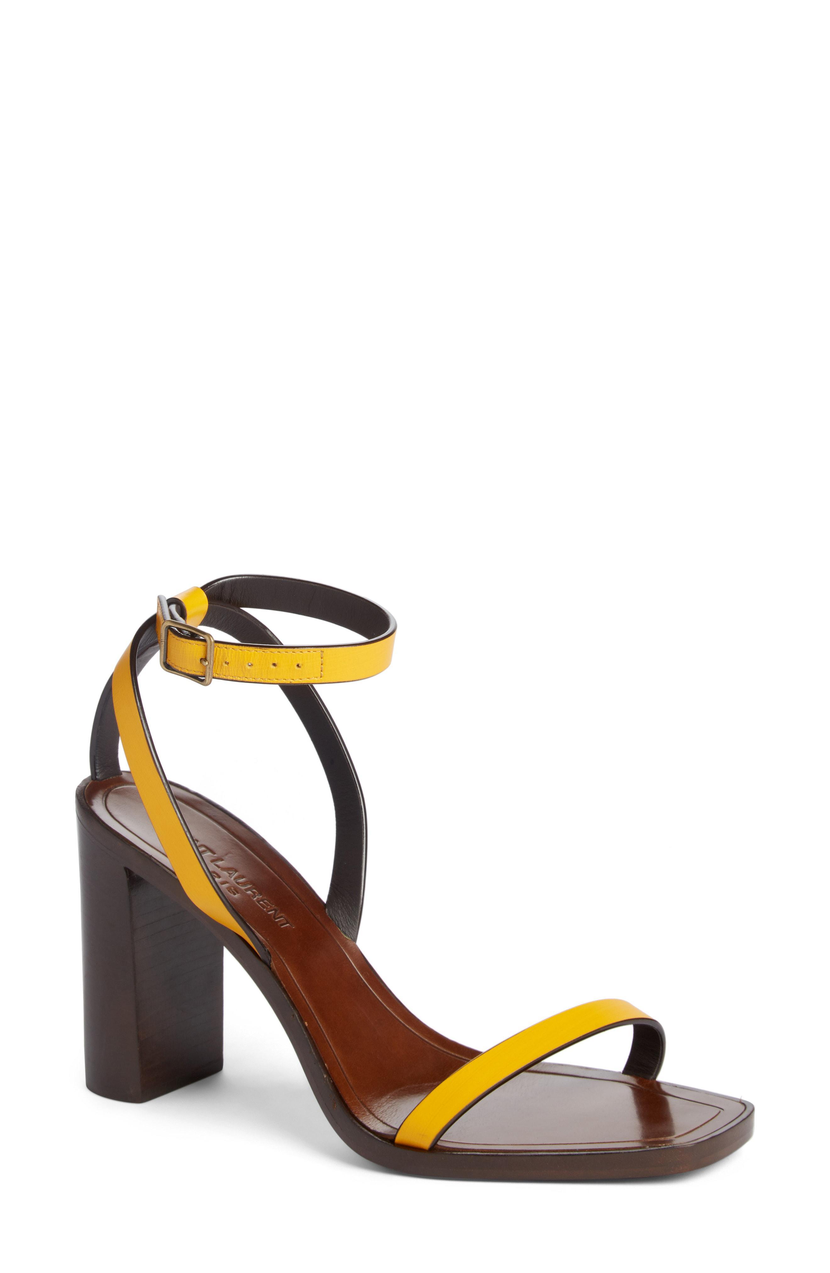 93daf012602 Lyst - Saint Laurent Loulou Ankle Strap Sandal in Black