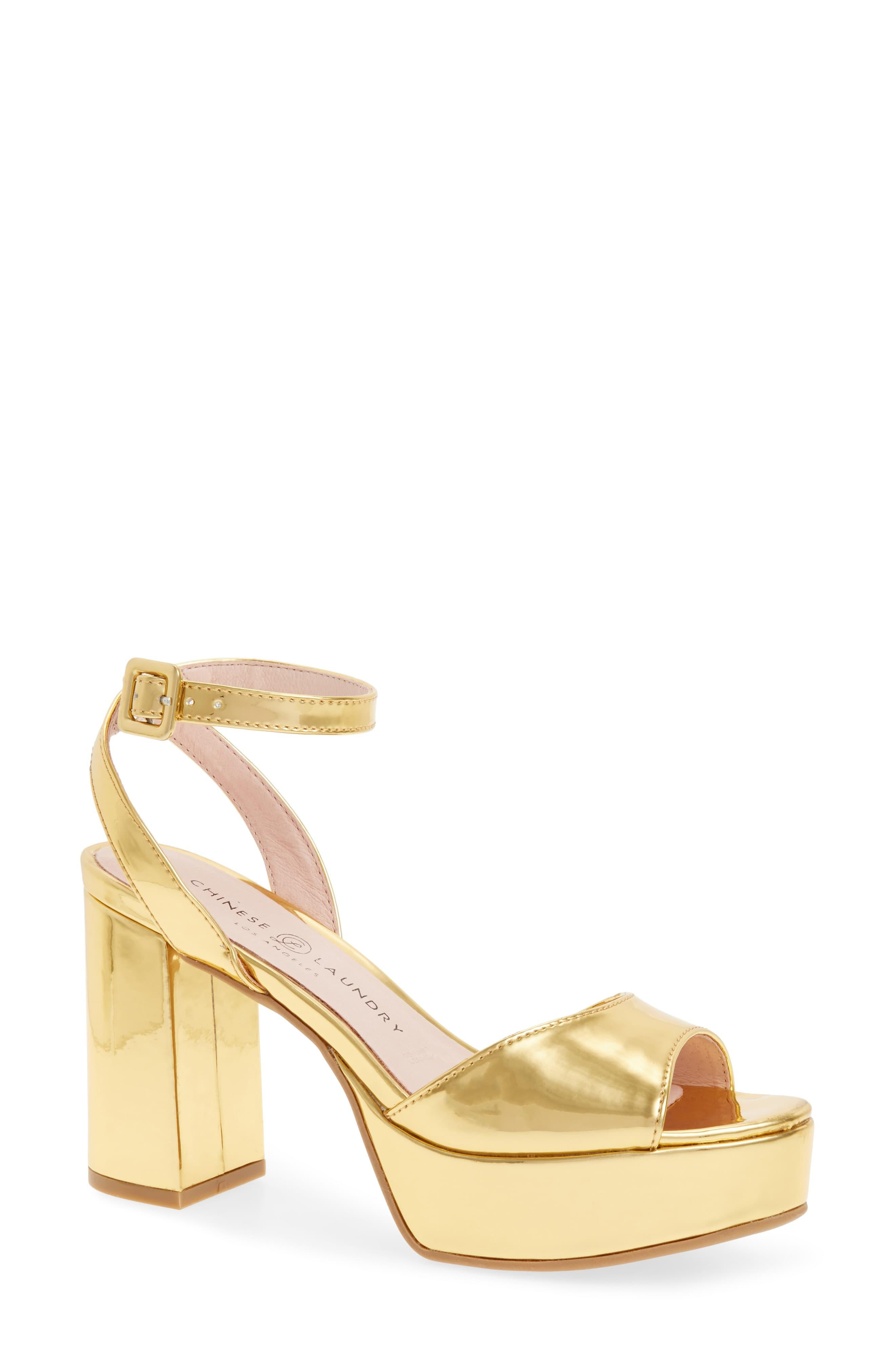 b55b32f3663 Women's Metallic Theresa Platform Sandal