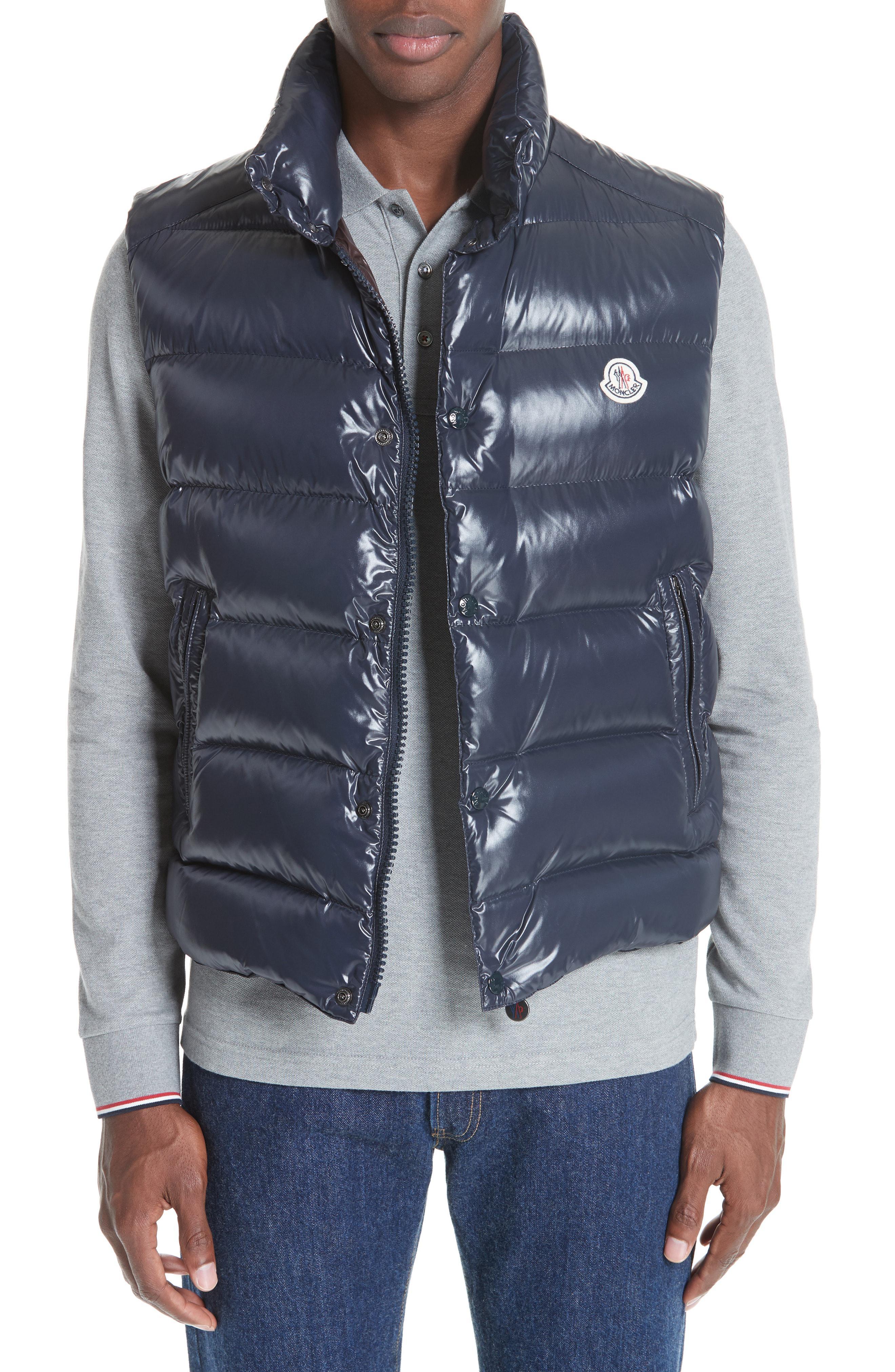 1fd4d9deabc7 Lyst - Moncler Tib Down Vest in Blue for Men
