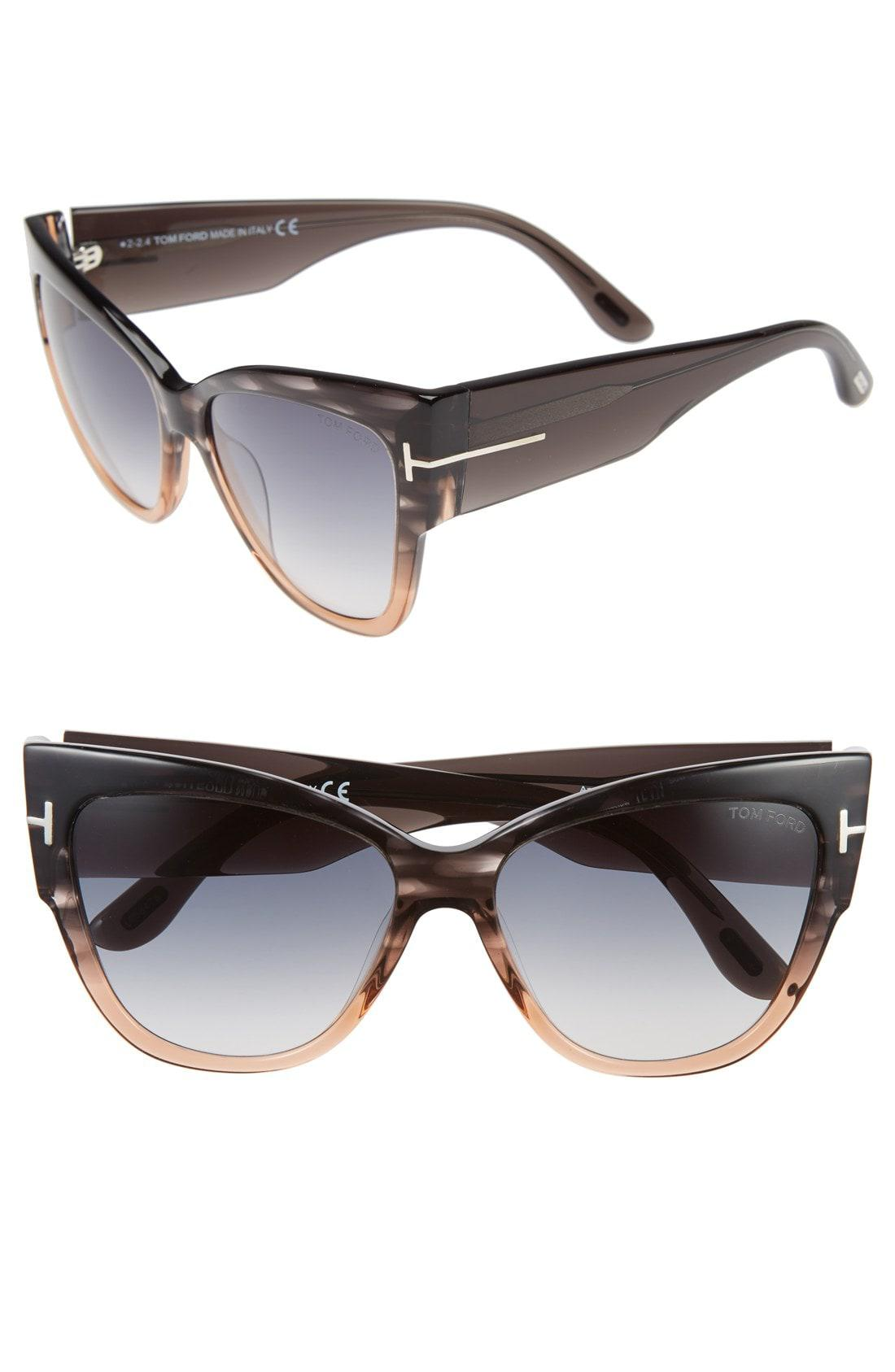 35e9ccbee8a Tom Ford - Gray Anoushka 57mm Gradient Cat Eye Sunglasses - Lyst. View  fullscreen