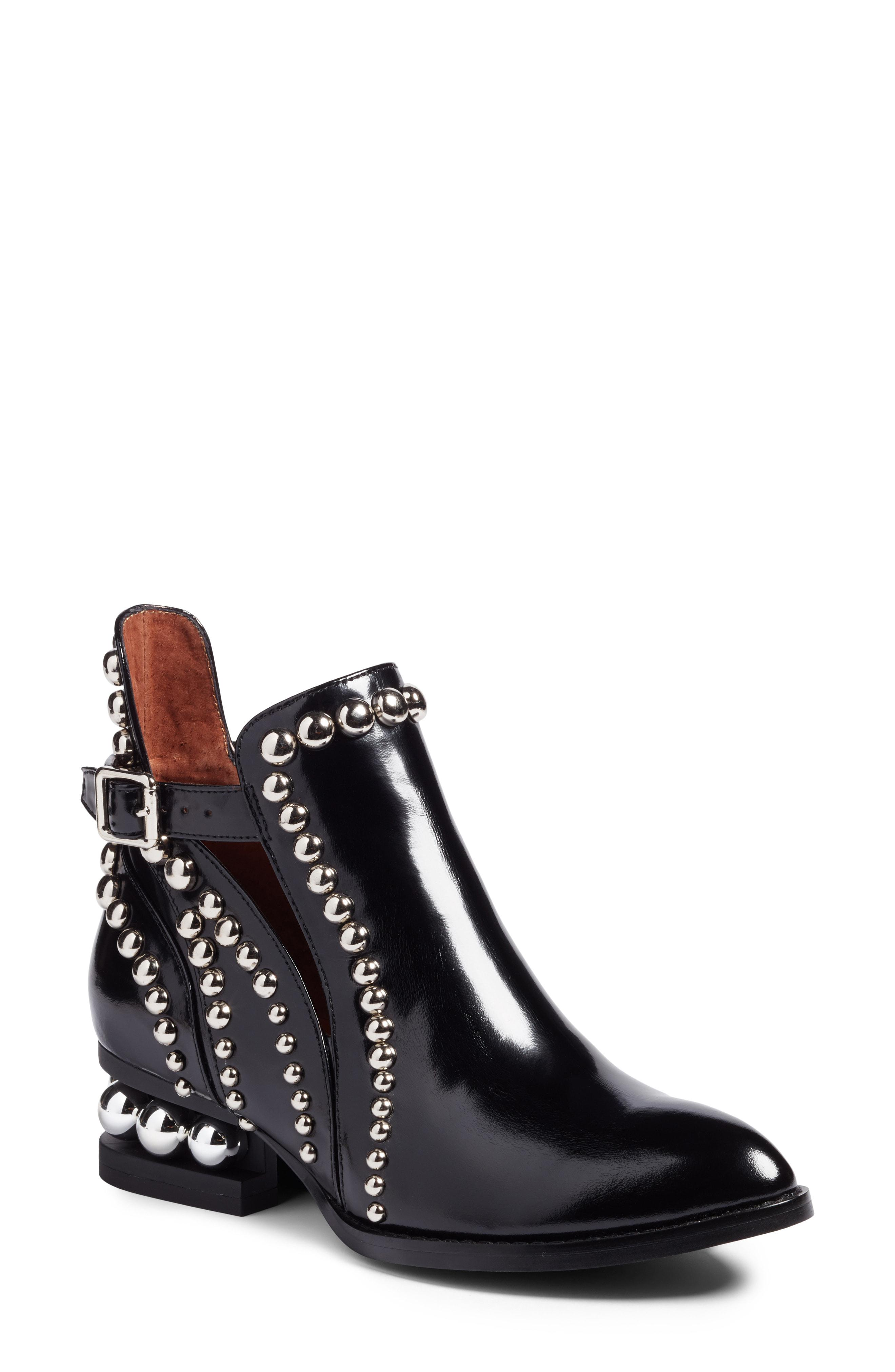 Lyst - Jeffrey Campbell Rylance Studded Boots in Black d065e1206