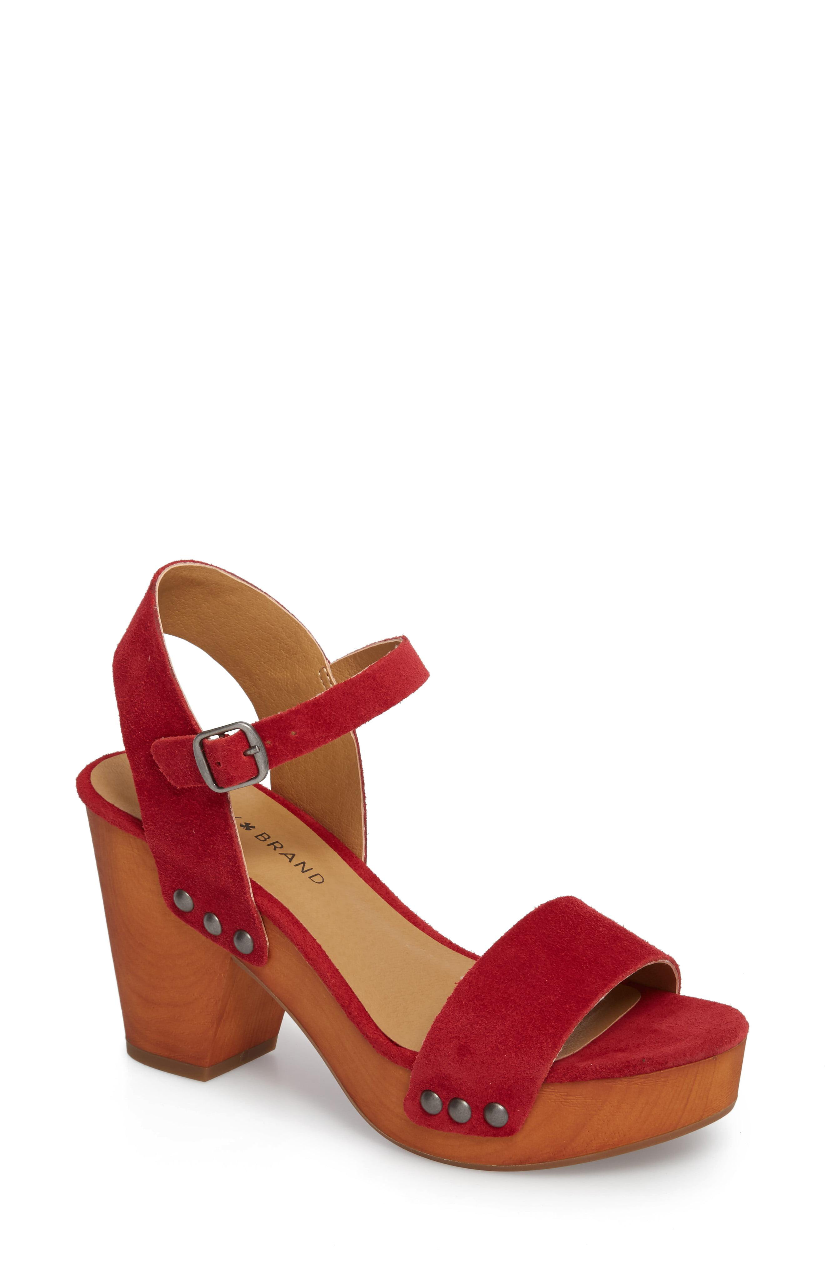 24948ceb677 Lyst - Lucky Brand Trisa Platform Sandal in Red