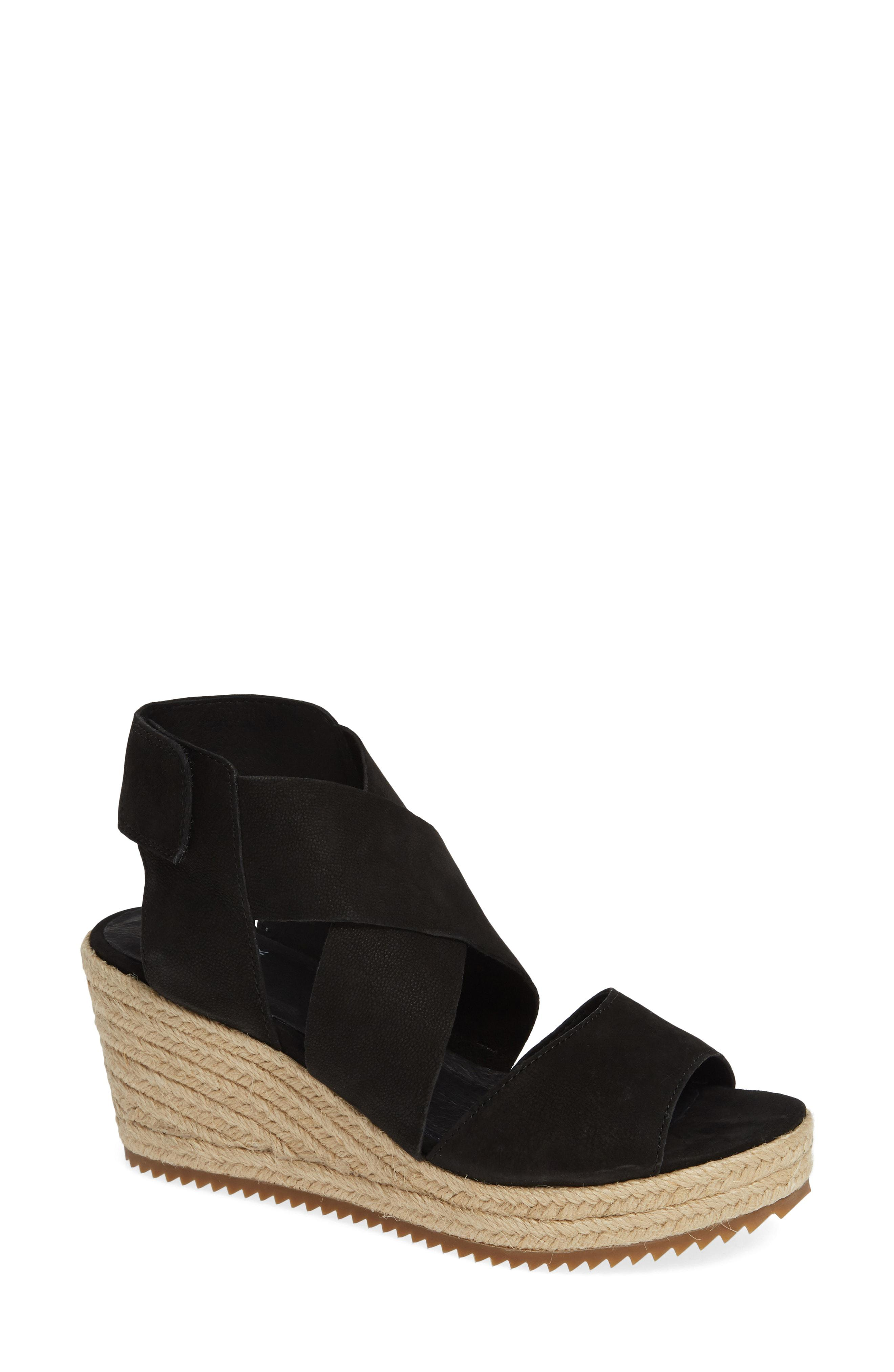 d00d3fa058e8 Lyst - Eileen Fisher  willow  Espadrille Wedge Sandal in Black ...