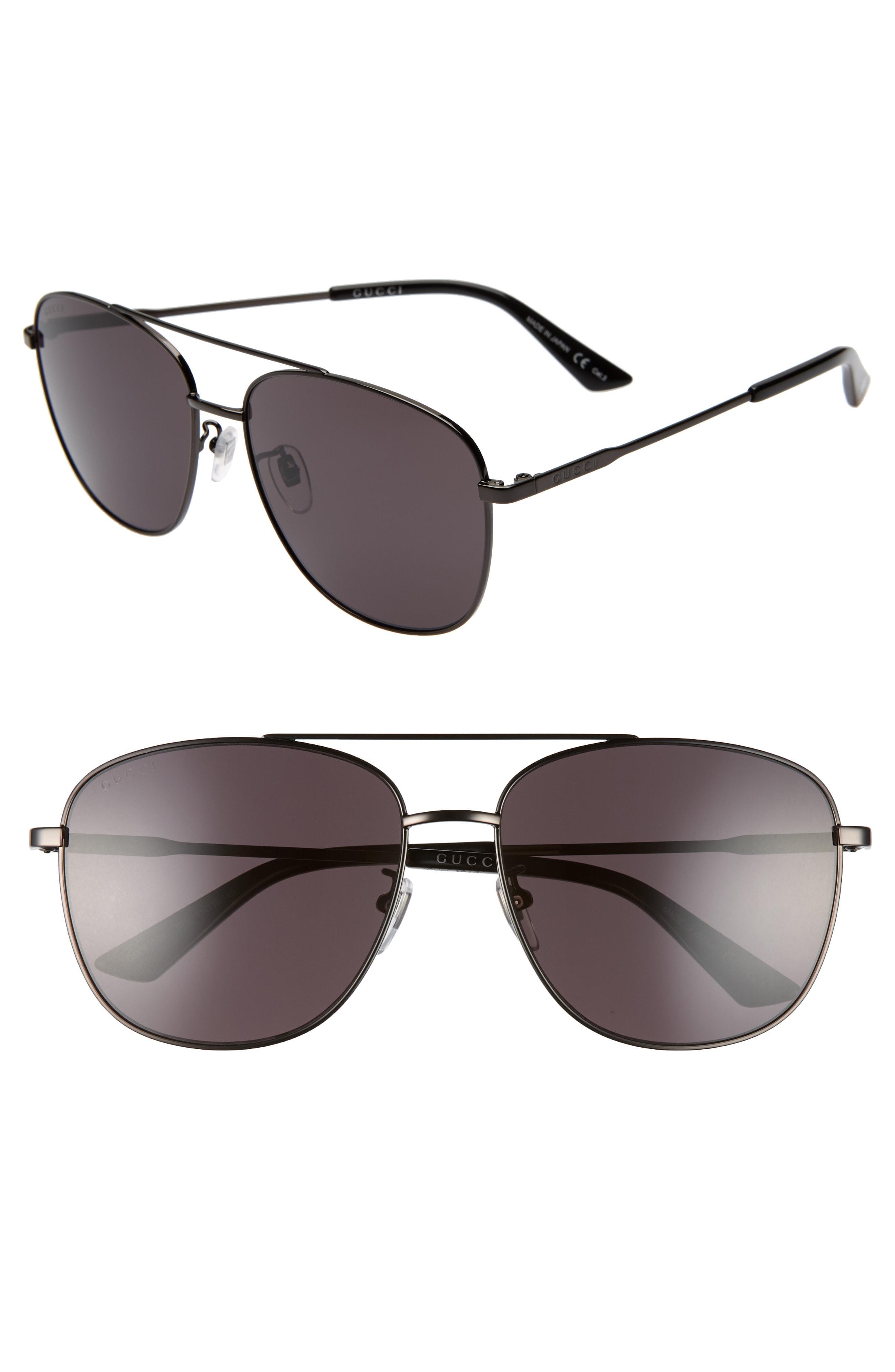 a8860d8eb521 Lyst - Gucci Navigator 61mm Aviator Sunglasses - Ruthenium for Men