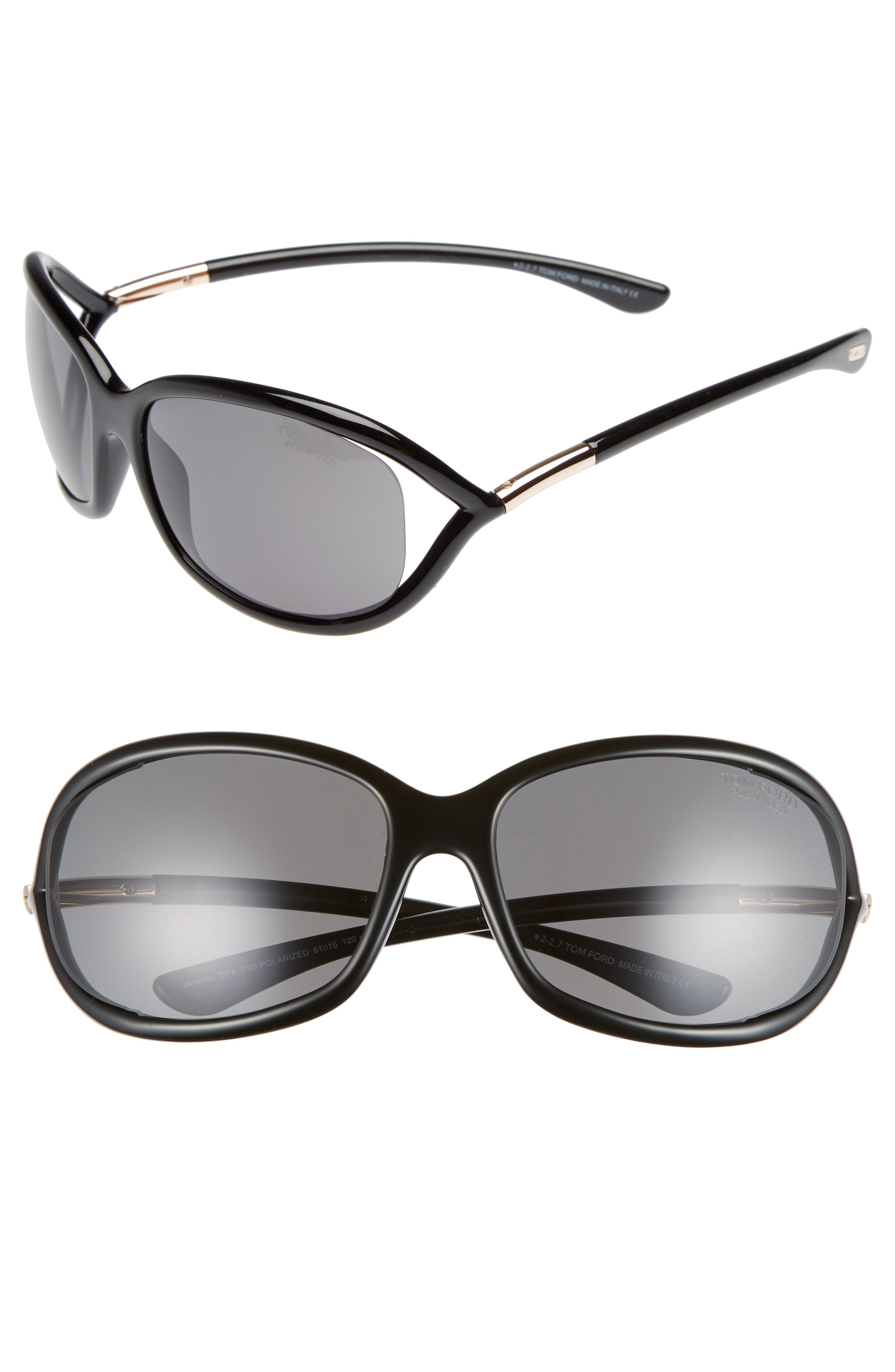 7b9d2a19f7 Tom Ford. Women s Jennifer 61mm Polarized Open Temple Sunglasses ...