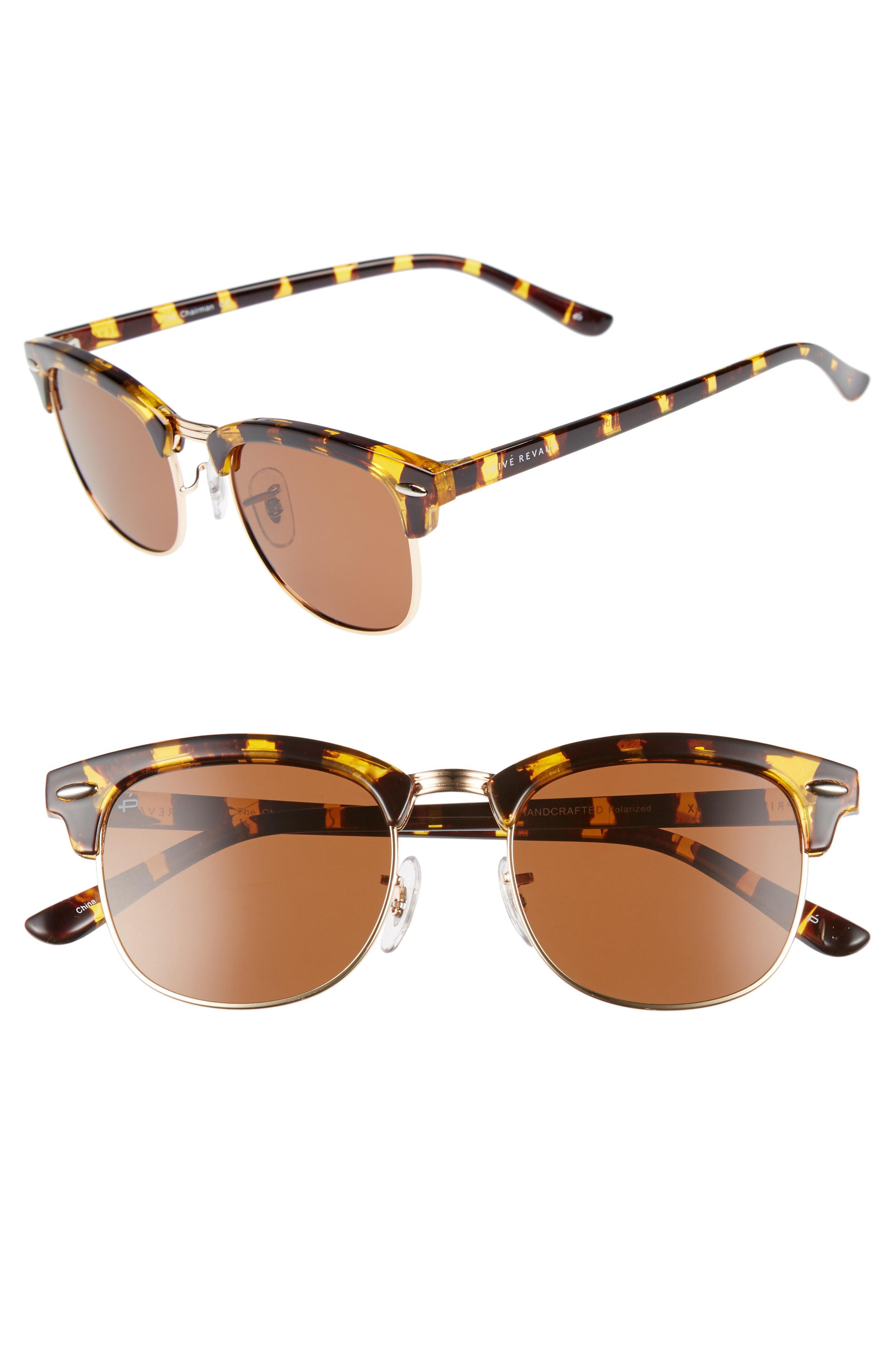 64b5e5343d Privé Revaux. Men s Metallic The Chairman 52mm Polarized Browline Sunglasses  -