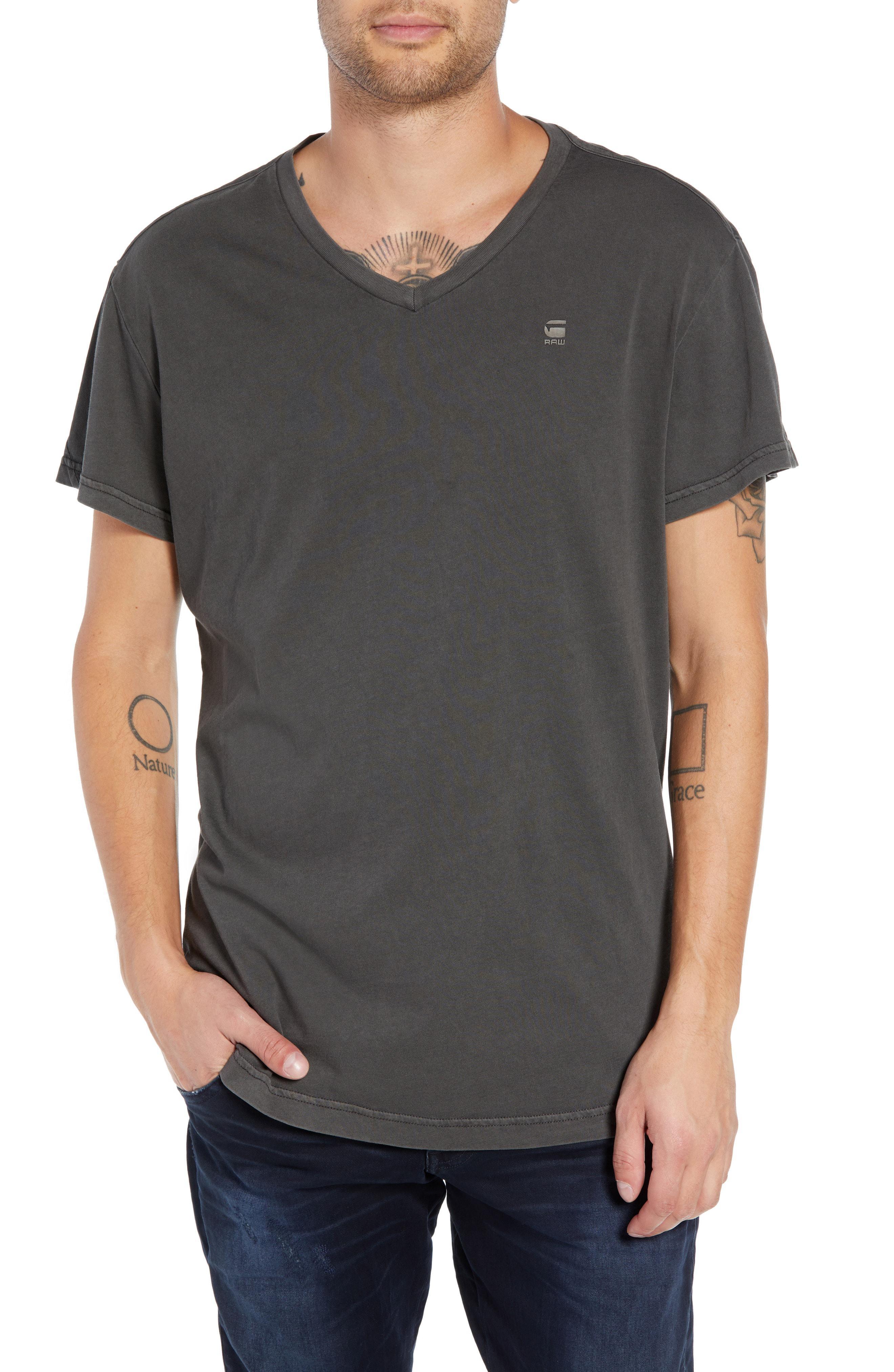 da1c773556 Lyst - G-Star Raw Starkton Solid V-neck T-shirt in Black for Men