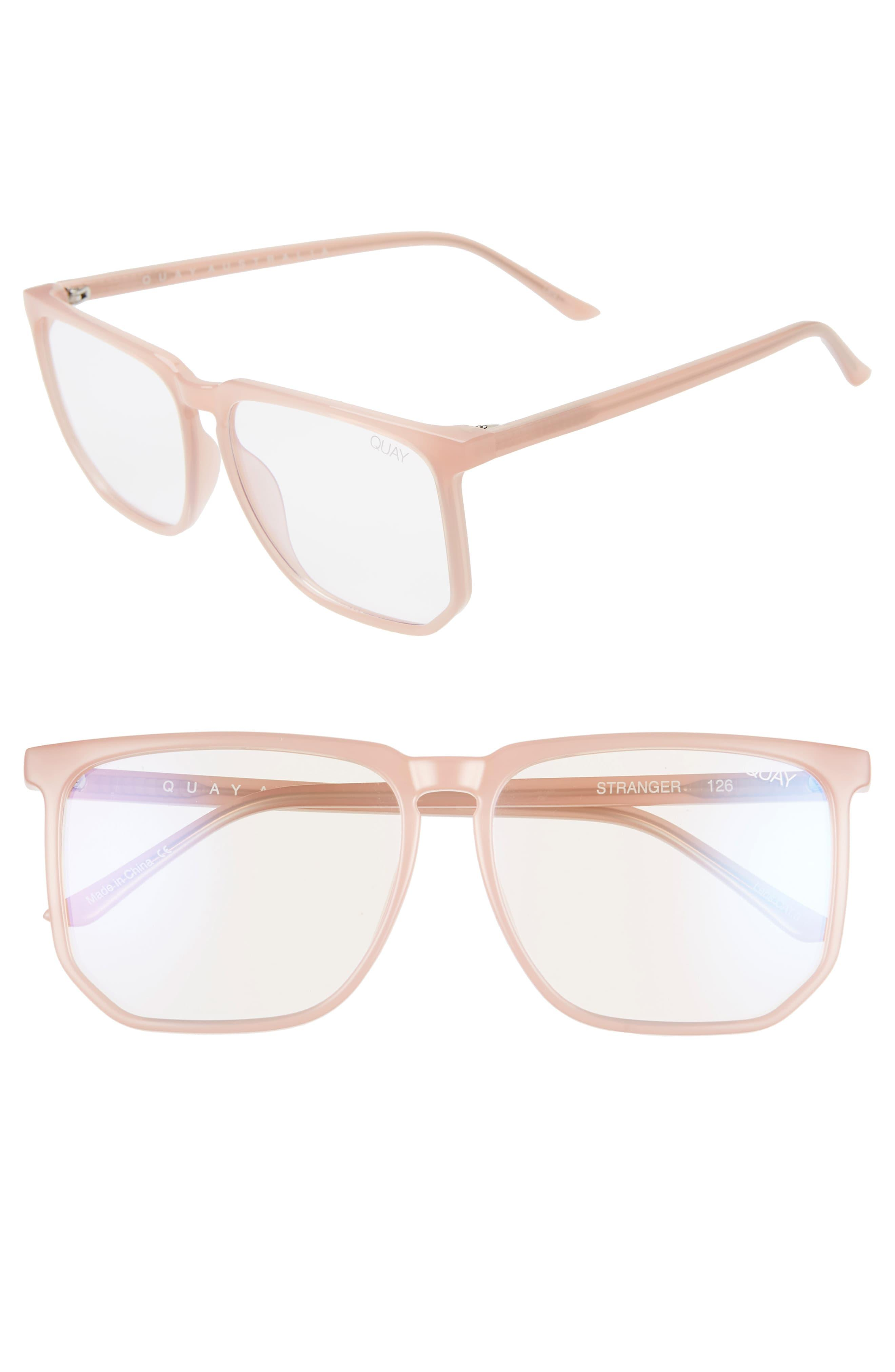 acf62048bf Quay Stranger 52mm Blue Light Blocking Glasses in Pink - Lyst