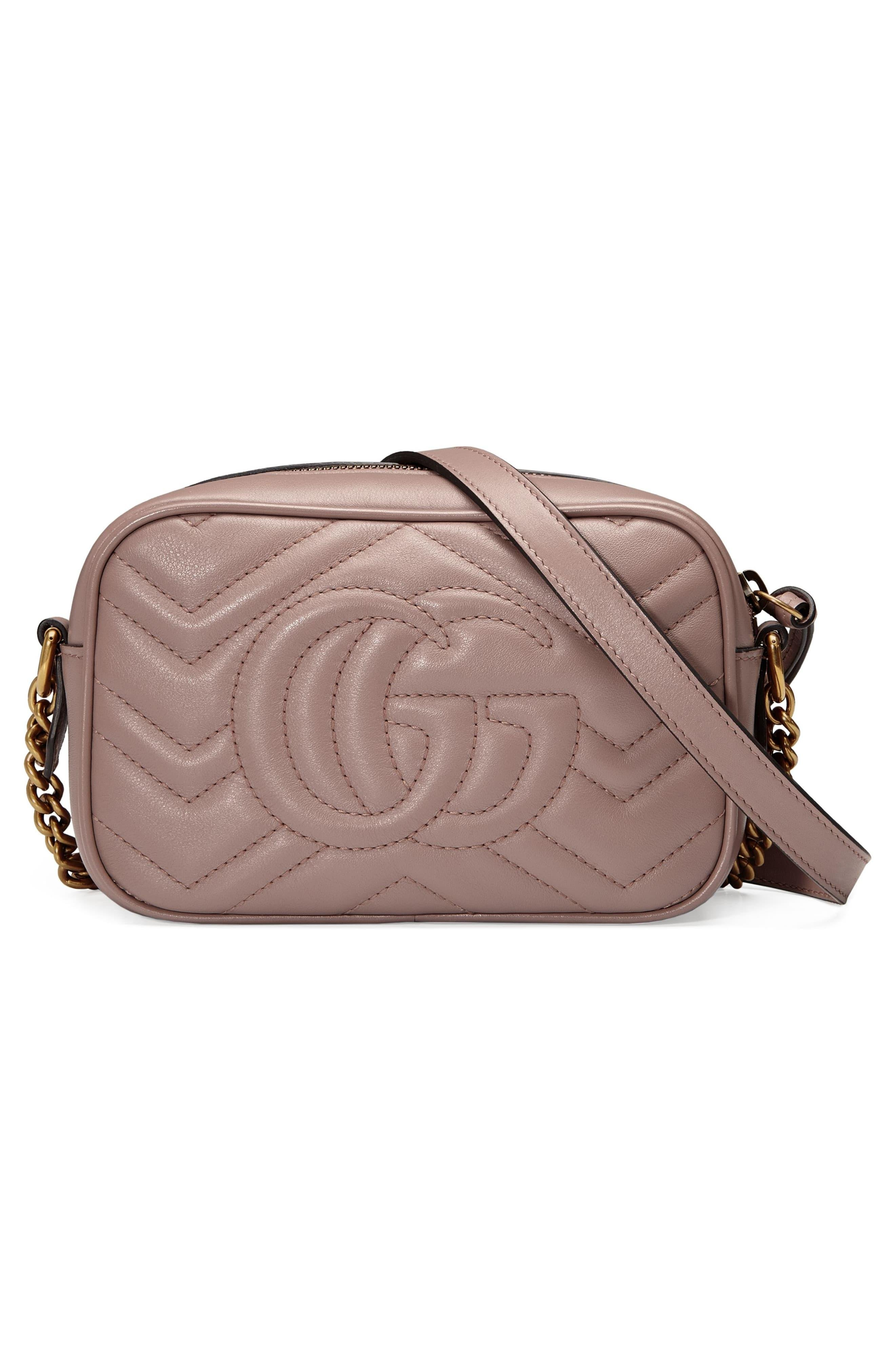 08f54d659604 Gucci - Pink Gg Marmont 2.0 Matelassé Leather Shoulder Bag - Lyst. View  fullscreen