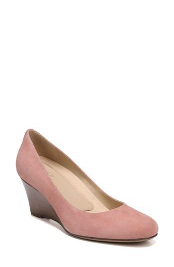 8d455848ab7 Lyst - Naturalizer Emily Wedge Pump in Pink