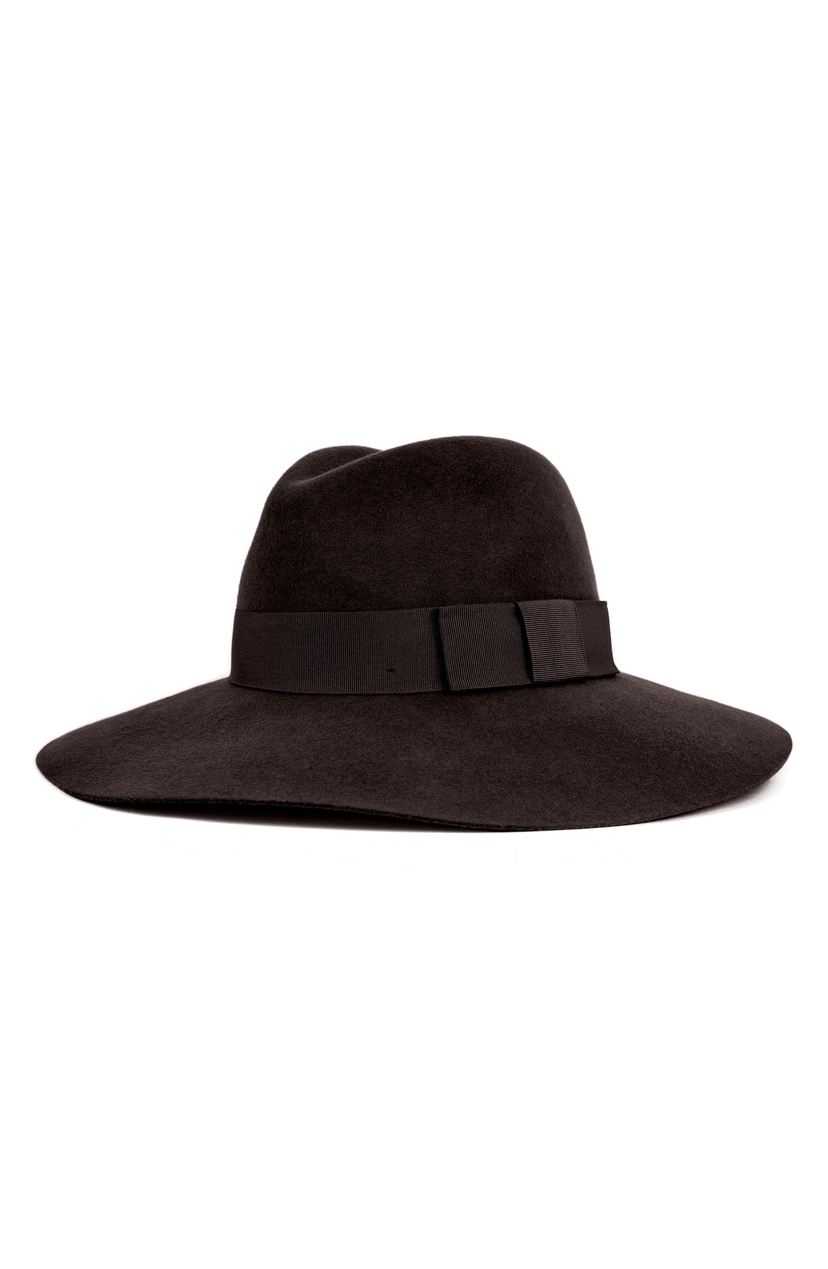 c3d88e308f Lyst - Brixton 'piper' Floppy Wool Hat - in Black - Save 50%