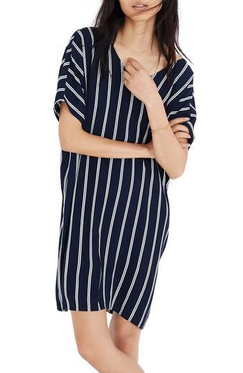 1795b4afe Madewell Stripe Plaza Dress in Blue - Lyst
