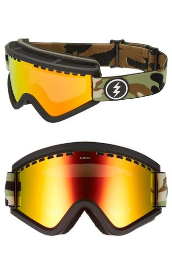 594159c0c7f Lyst - Electric Egv Snow Goggles - Camo  Red Chrome in Yellow for Men
