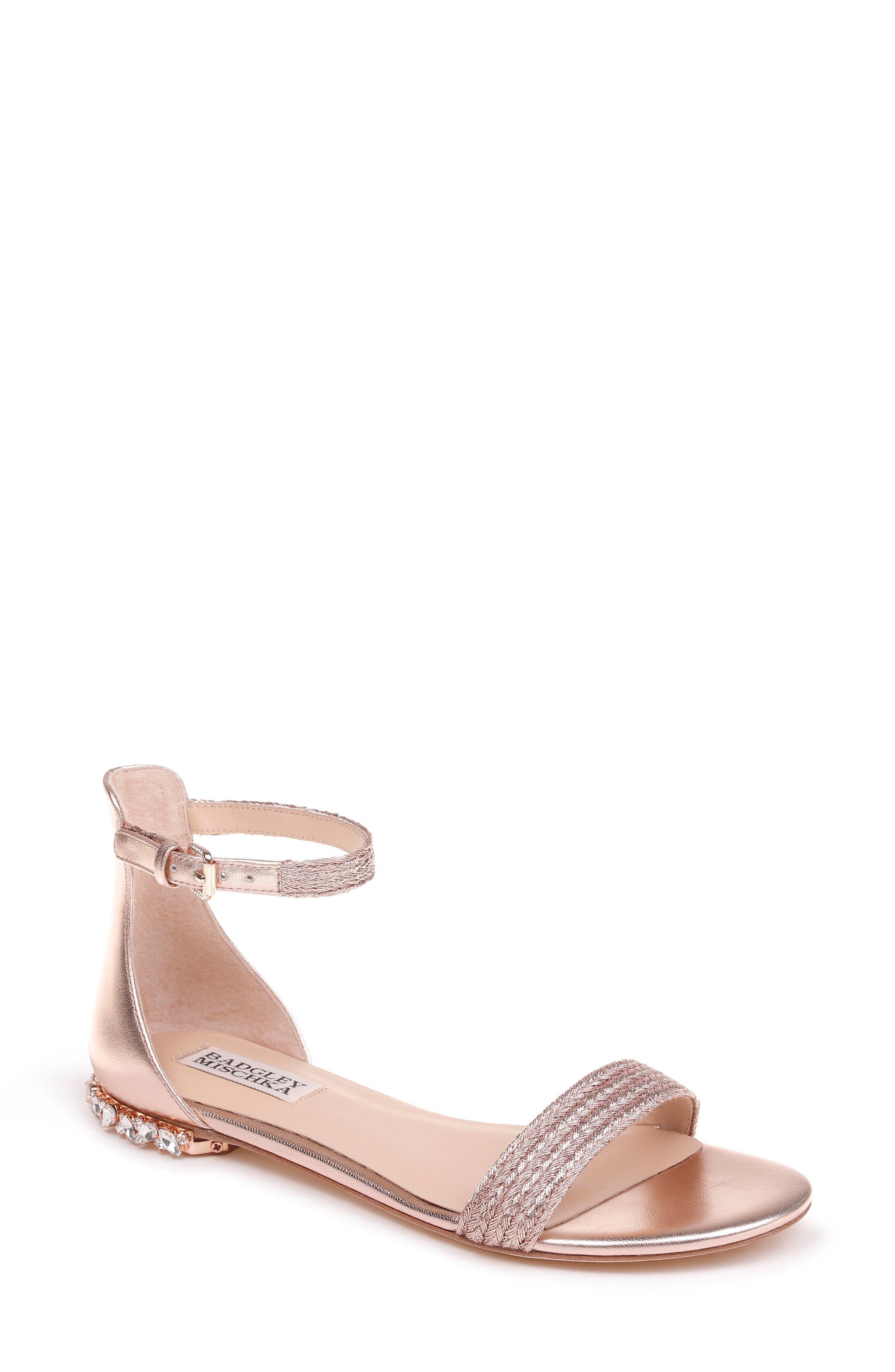 53446ac755f0 Lyst - Badgley Mischka Badgley Mischka Steffie Ankle Strap Sandal in ...