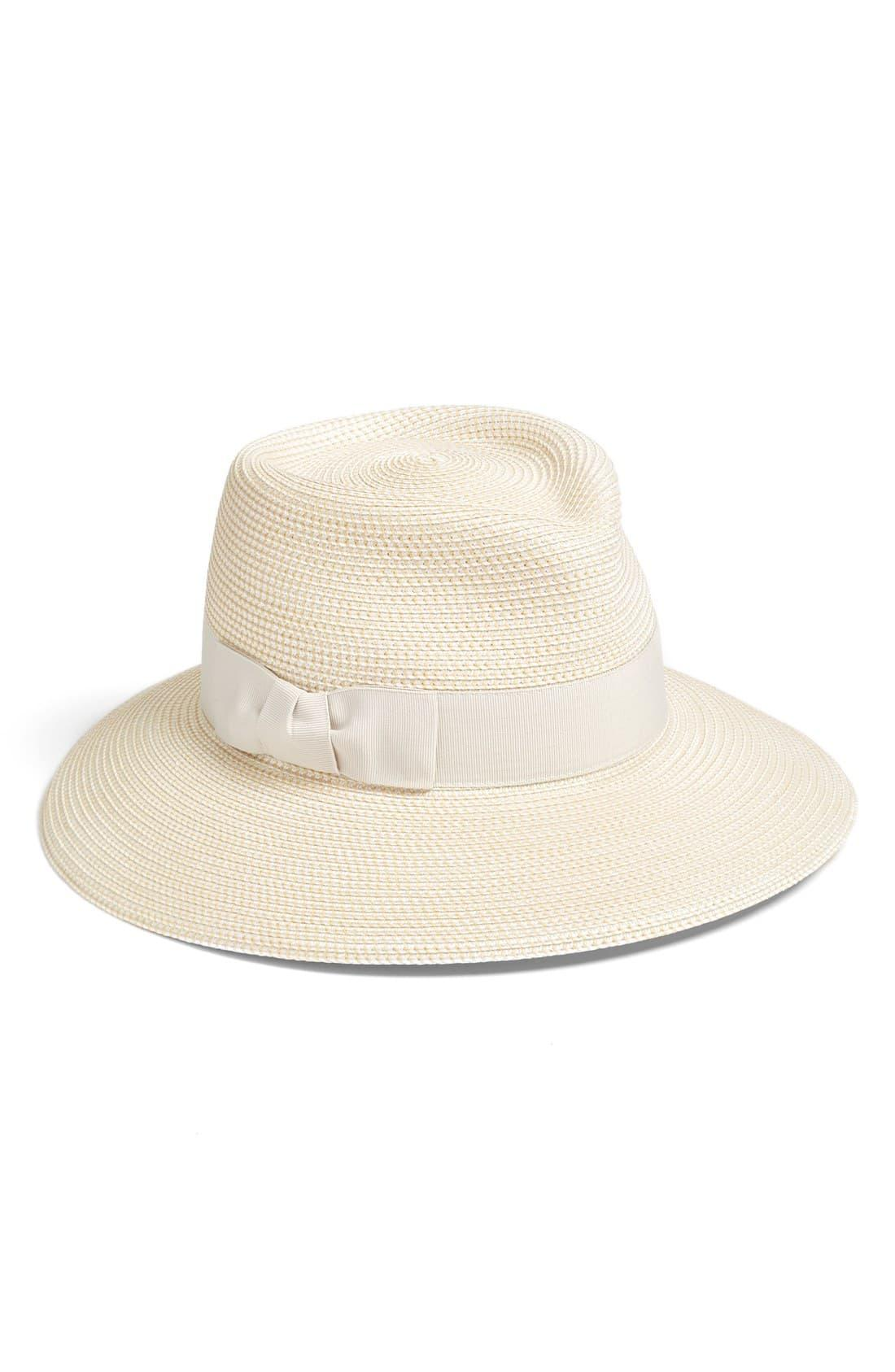 7f34af6b Eric Javits 'phoenix' Packable Fedora Sun Hat in Brown - Lyst