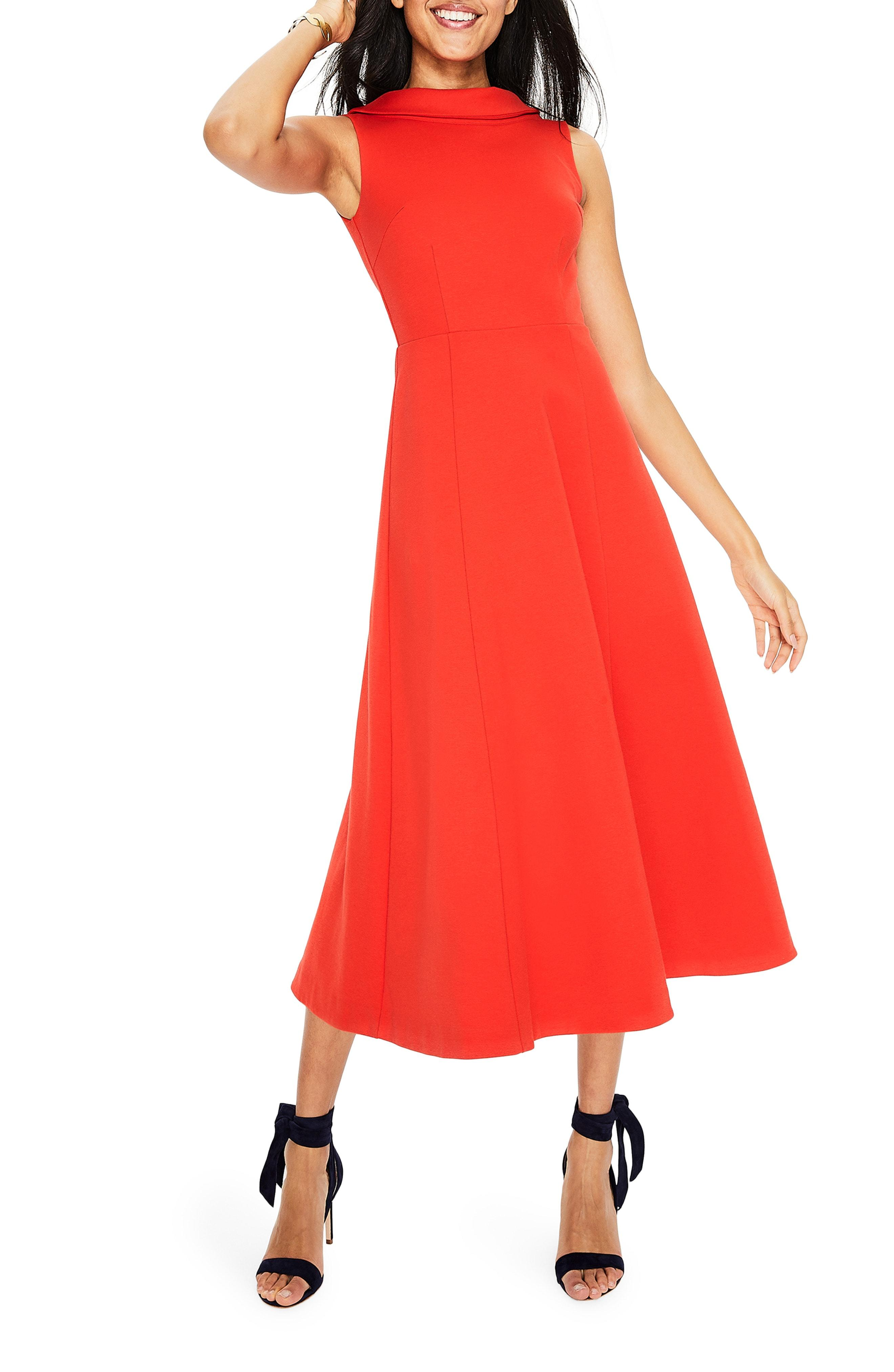 9d30ec5809c4 Lyst - Boden Aria Ponte Midi Dress in Red
