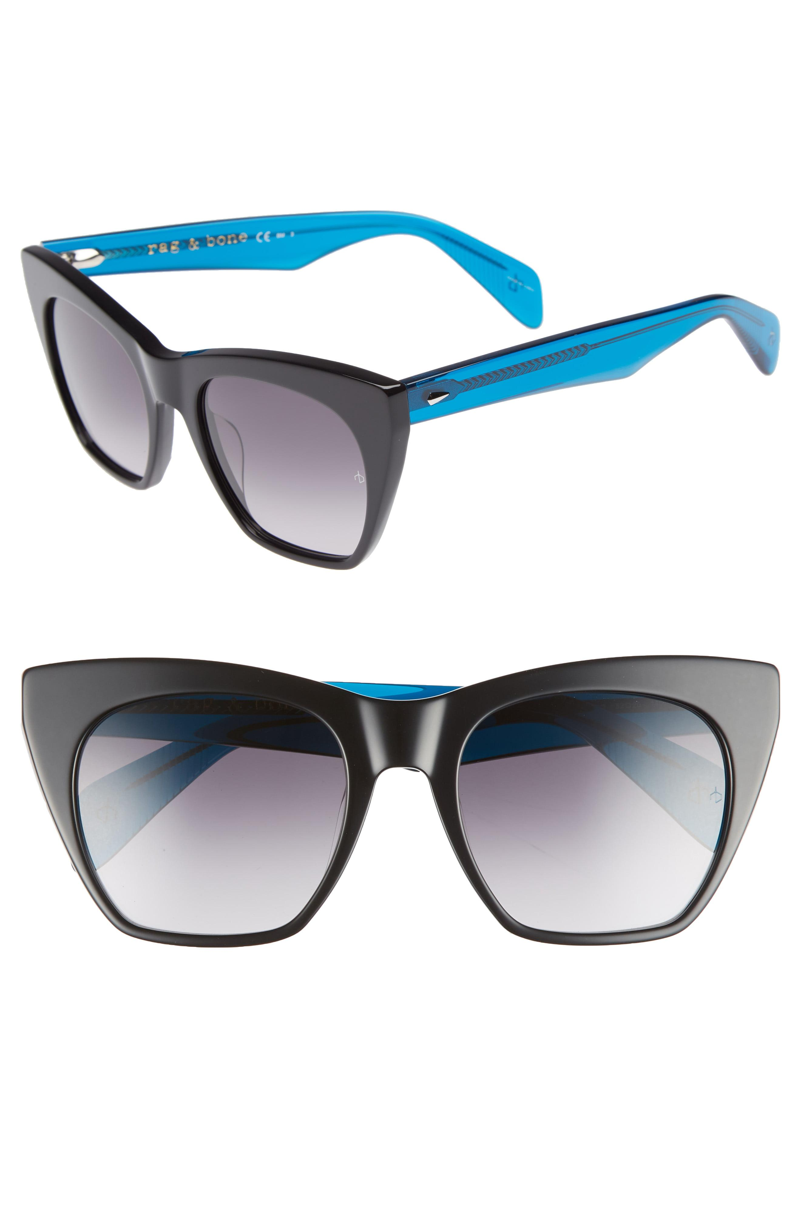 b638782e3b449 Lyst - Rag   Bone 52mm Cat Eye Sunglasses in Blue
