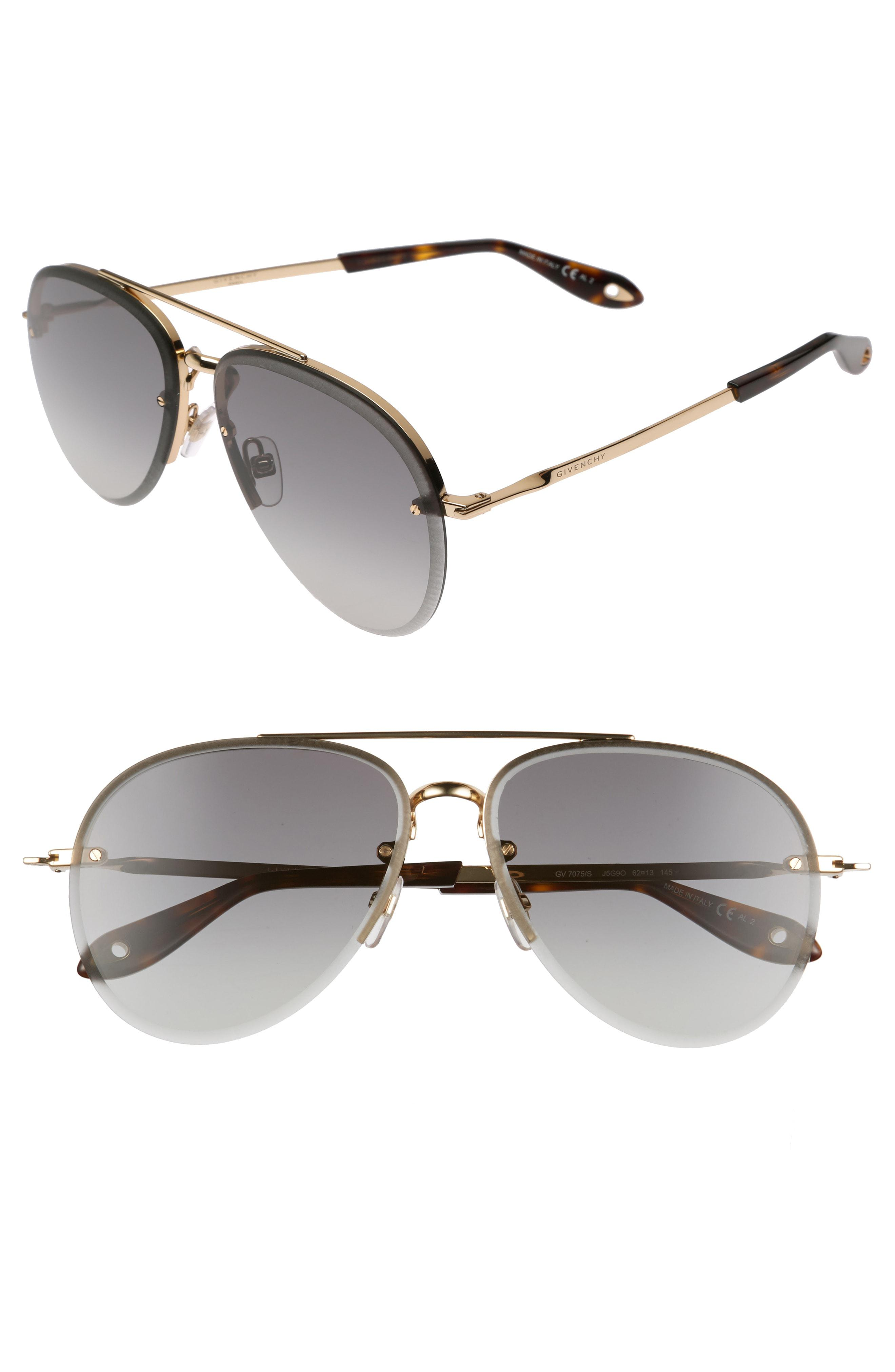 92db95d916 ... best Black Friday deals · Givenchy - Metallic 62mm Oversize Aviator  Sunglasses - - Lyst. View fullscreen