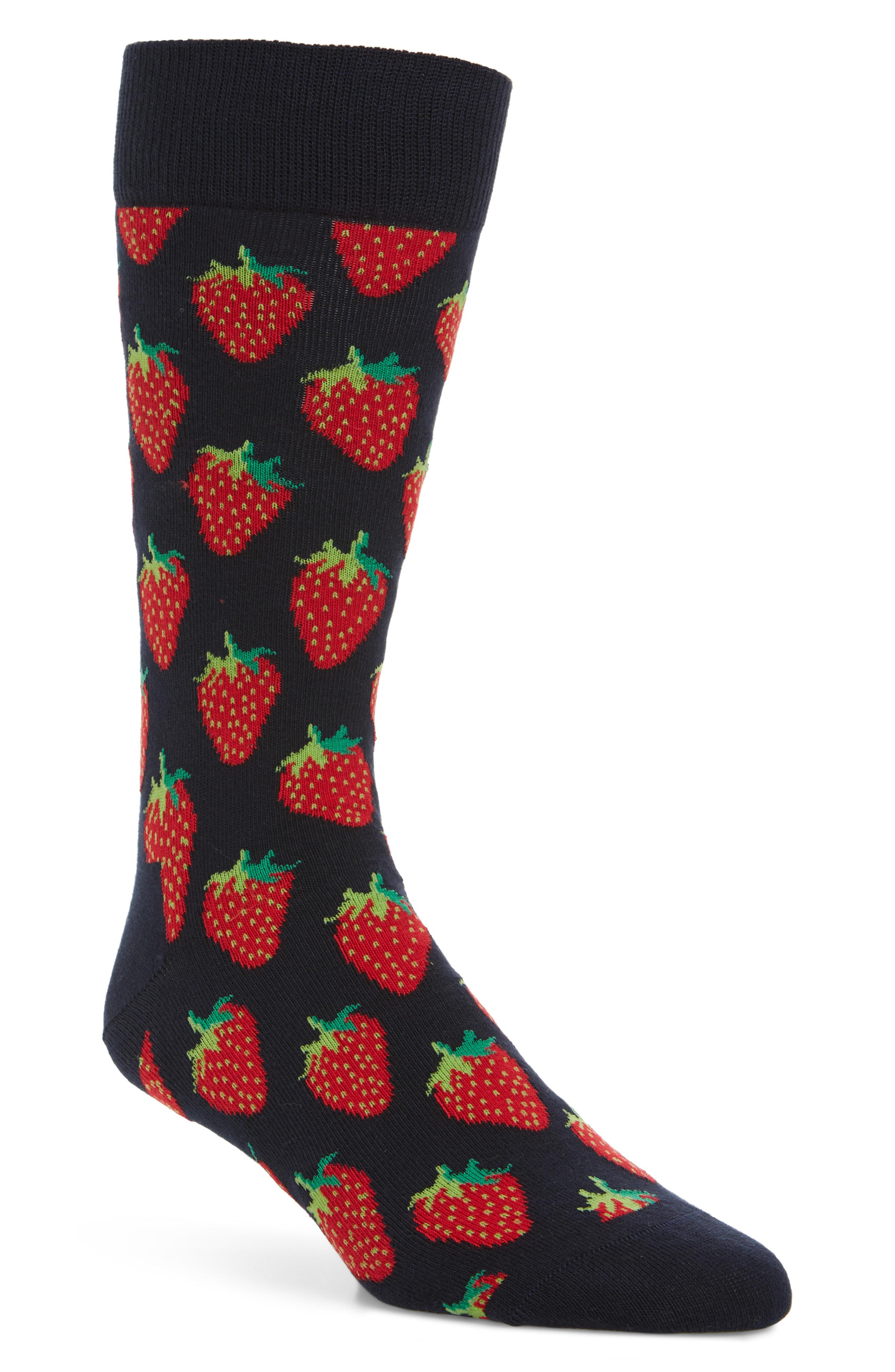 Lyst - Happy Socks Strawberry Socks in Blue for Men