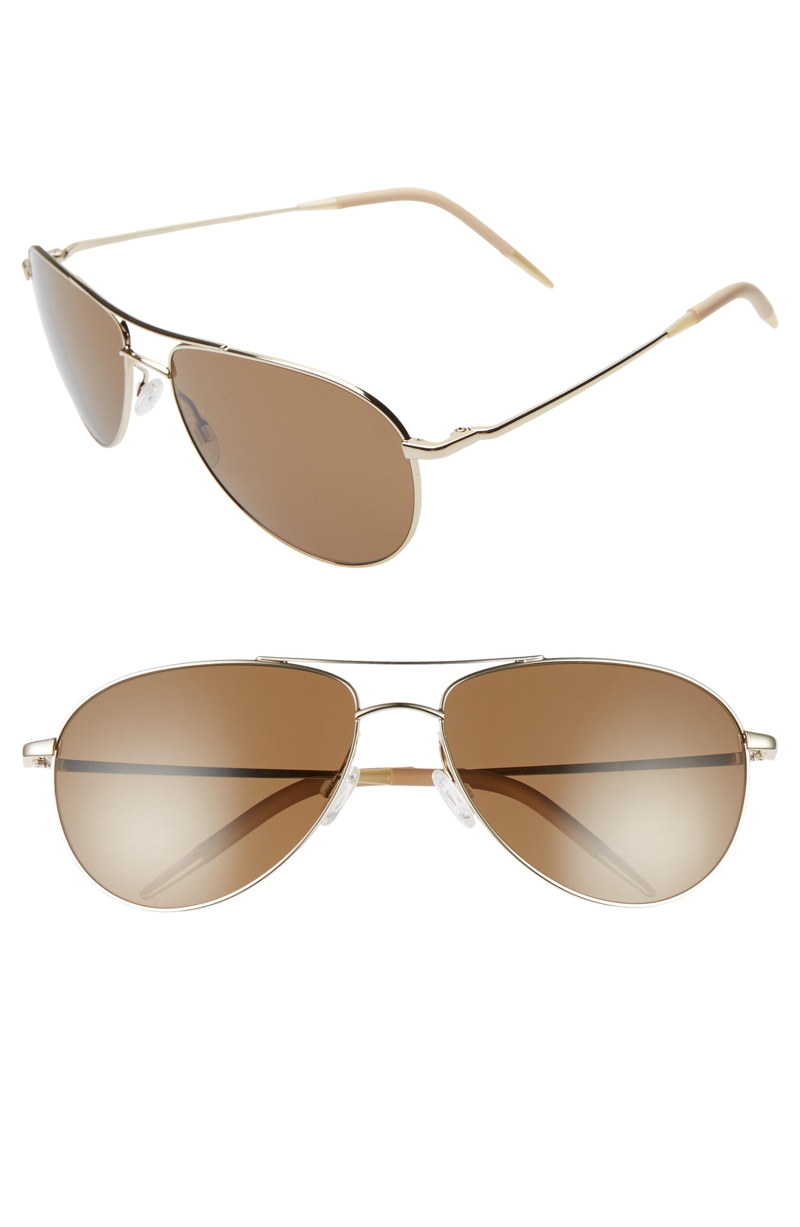 4b1c0af9eba Oliver Peoples. Women s Benedict 59mm Aviator Sunglasses - Soft Gold  Brown
