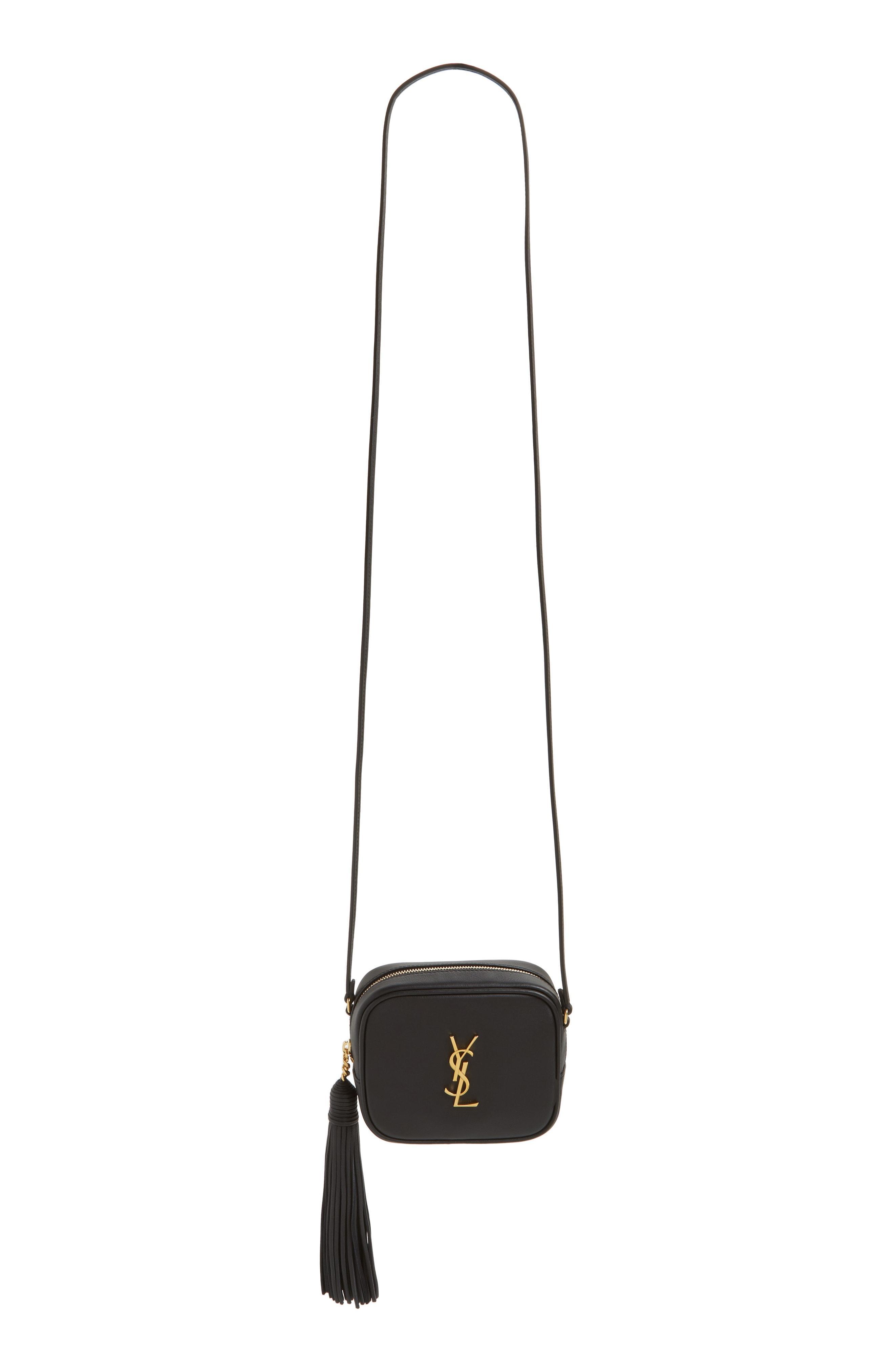 3c58a5ab20 Saint Laurent. Women s Black Monogram Blogger Leather Cross-Body Bag