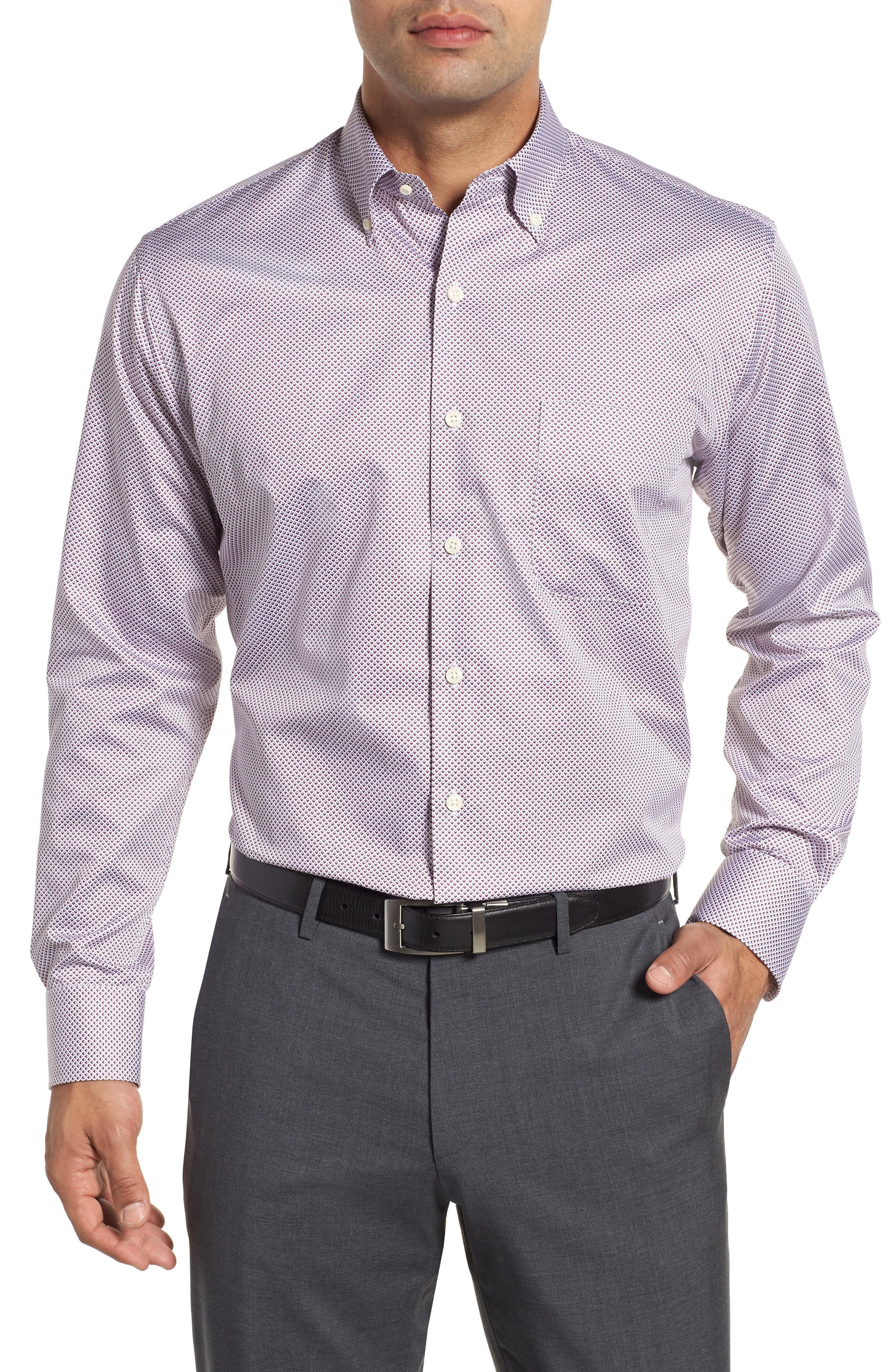 9b3071d8fec Lyst - Peter Millar Diamond In The Rough Regular Fit Sport Shirt in ...