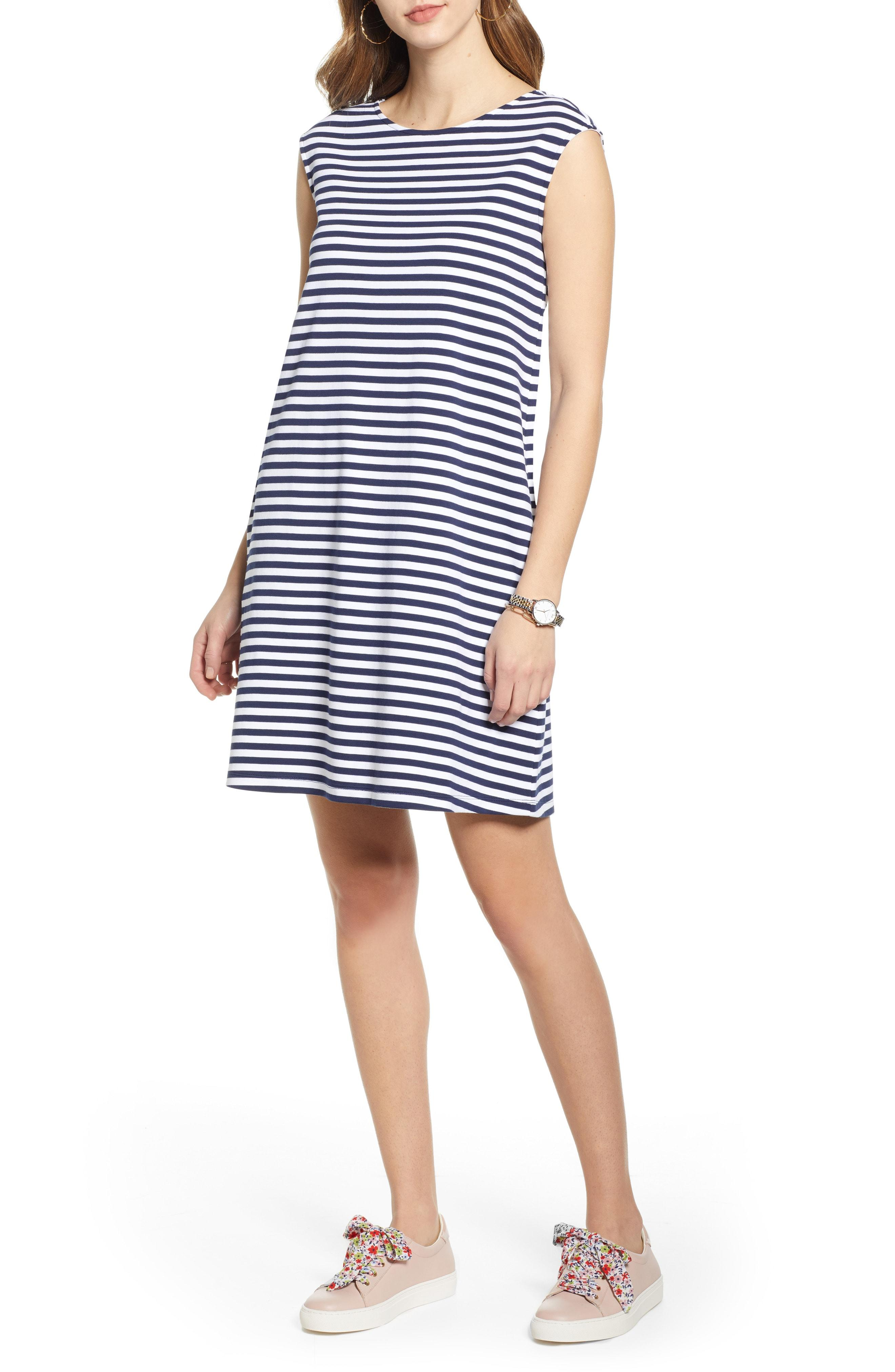 6e02fe08bf64 Lyst - Nordstrom 1901 Stripe Shift Dress in Blue
