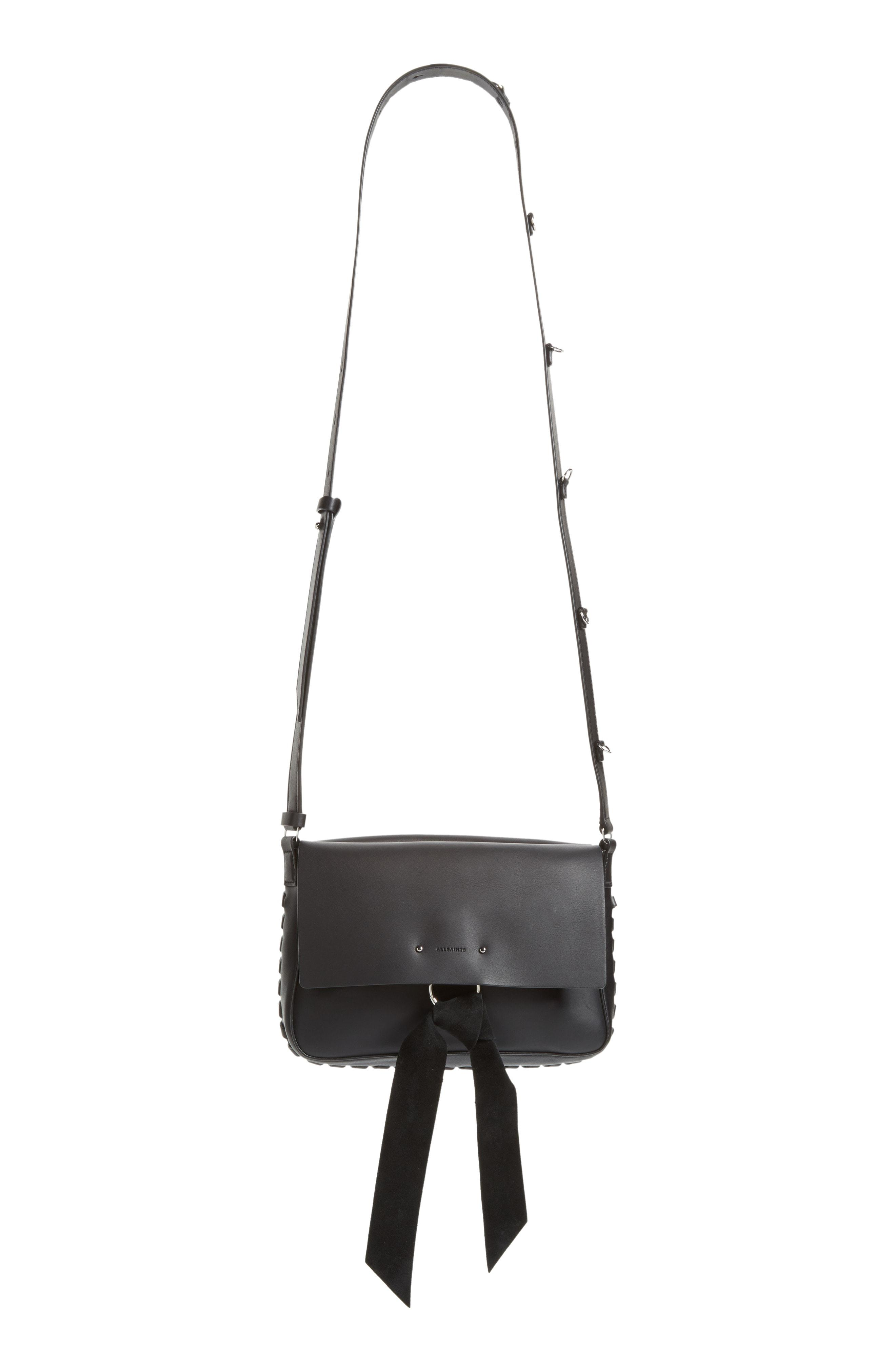 df380e5061 Lyst - AllSaints Cassie Leather Crossbody Bag in Black