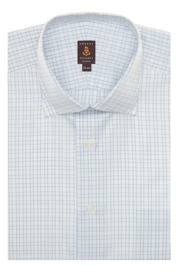 Robert talbott tailored fit check dress shirt in blue for for Robert talbott shirts sale