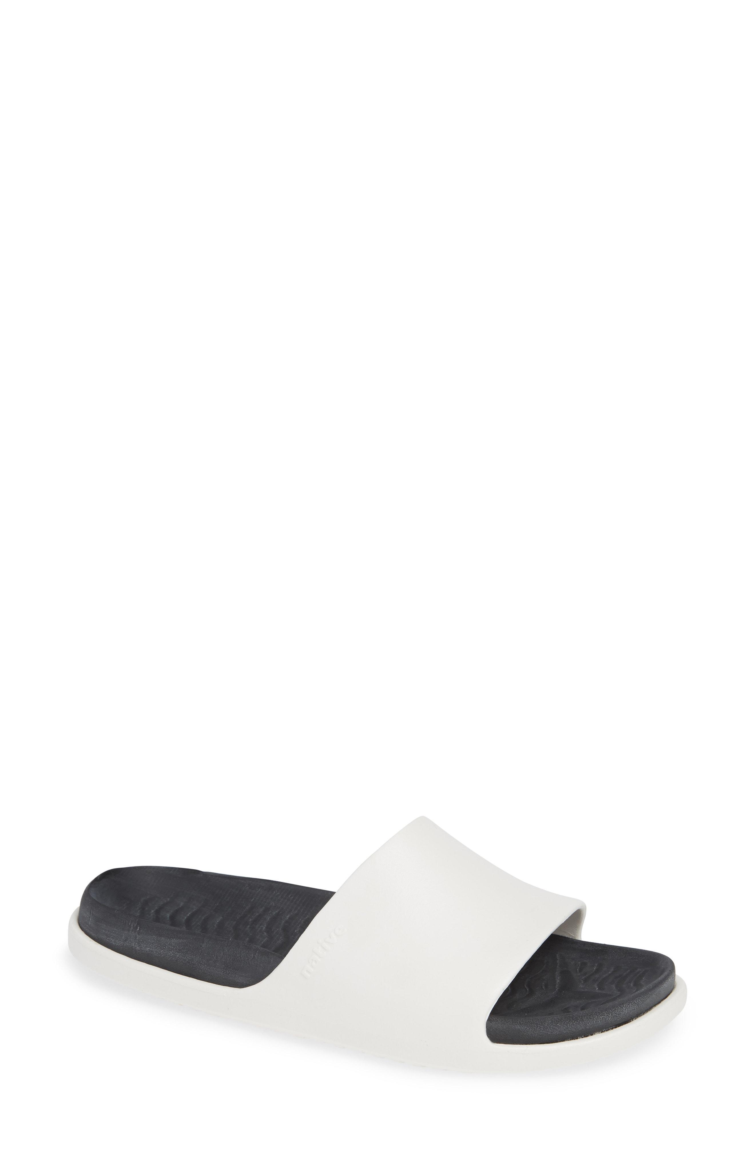 ebc0a34481d Lyst - Native Shoes Spencer Lx Vegan Sport Slide Sandal in White