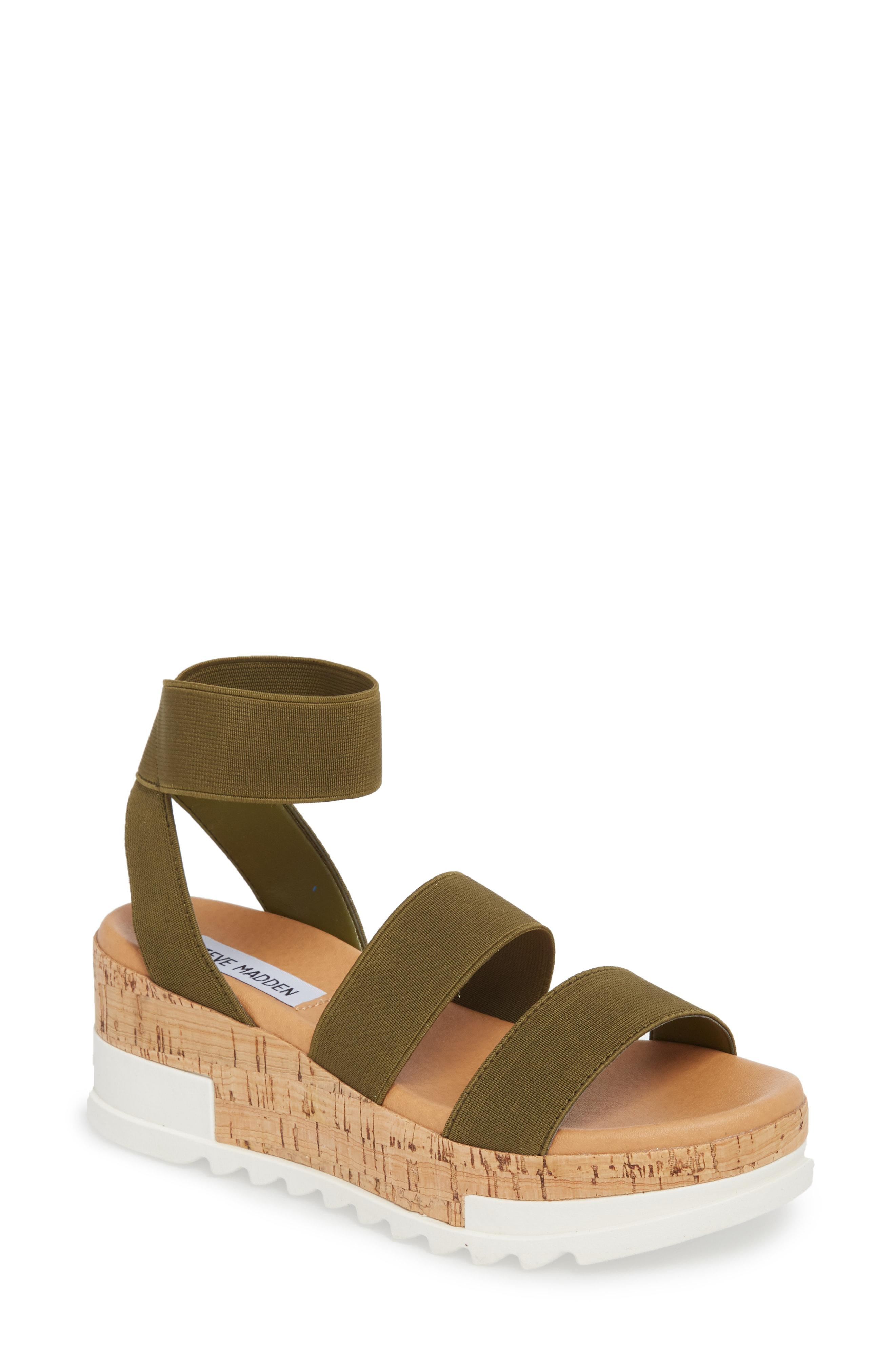 202347800db Steve Madden Bandi Platform Wedge Sandal in Green - Save 11% - Lyst