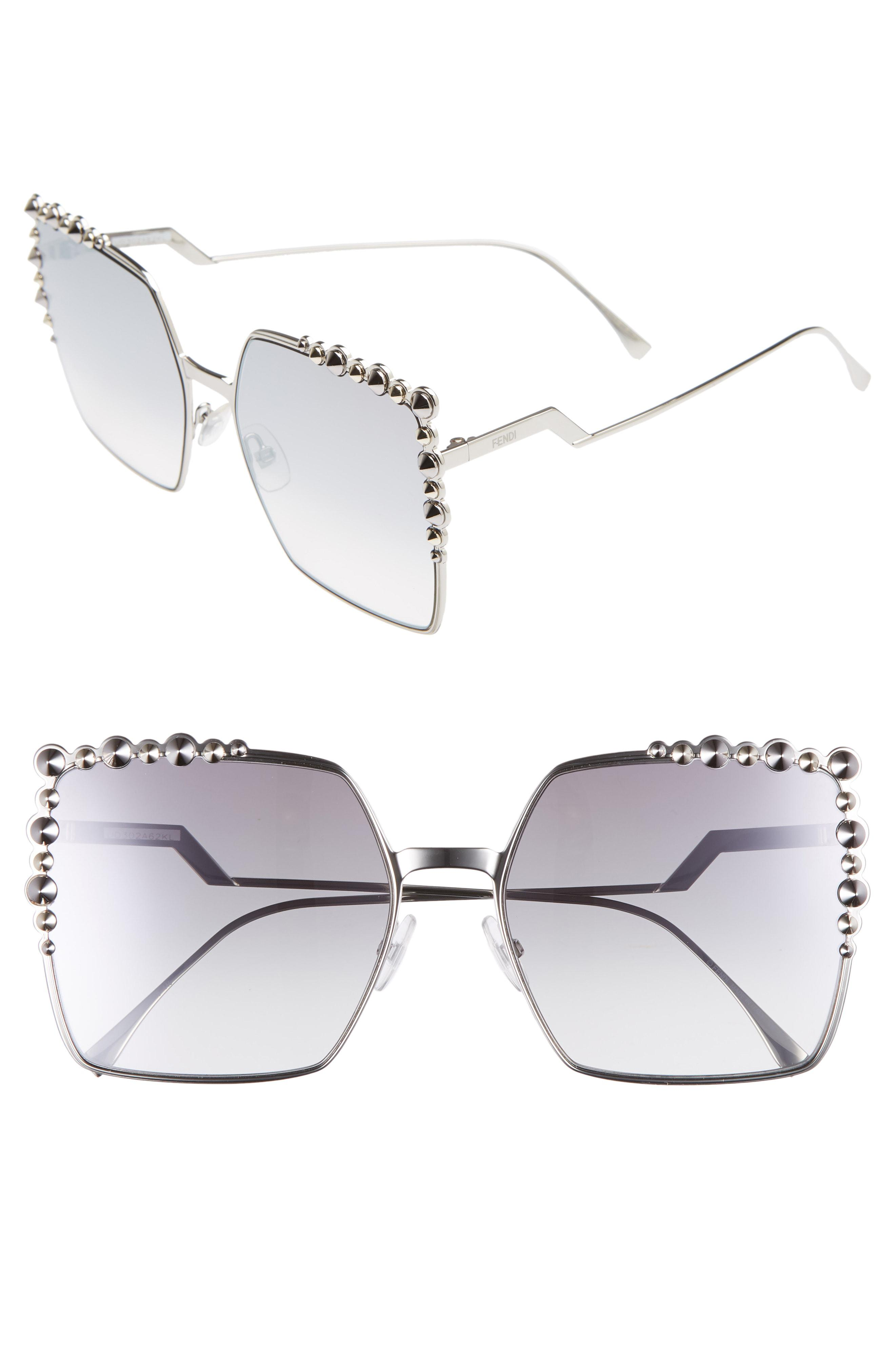 strona internetowa ze zniżką nowy produkt oficjalny dostawca Women's Black 60mm Gradient Square Cat Eye Sunglasses