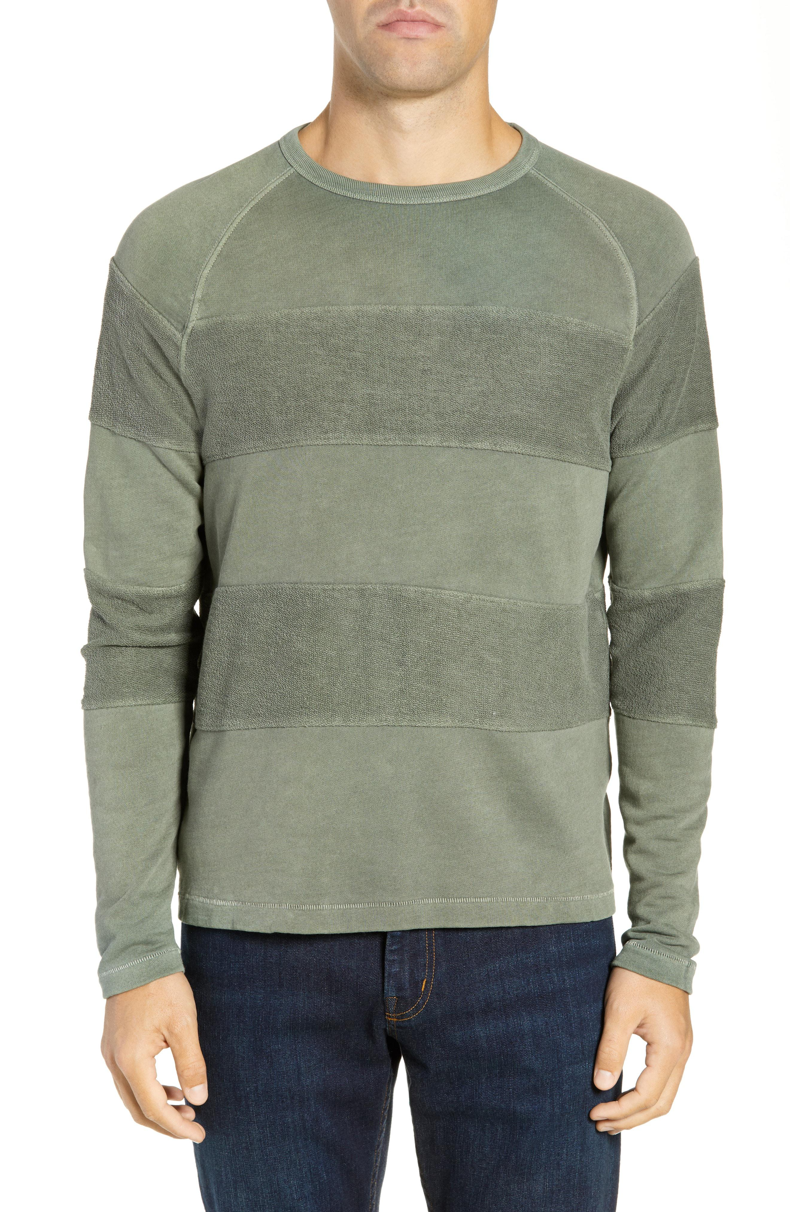 b347887a4d4 Lyst - French Connection Tonal Stripe Regular Fit Sweatshirt in ...