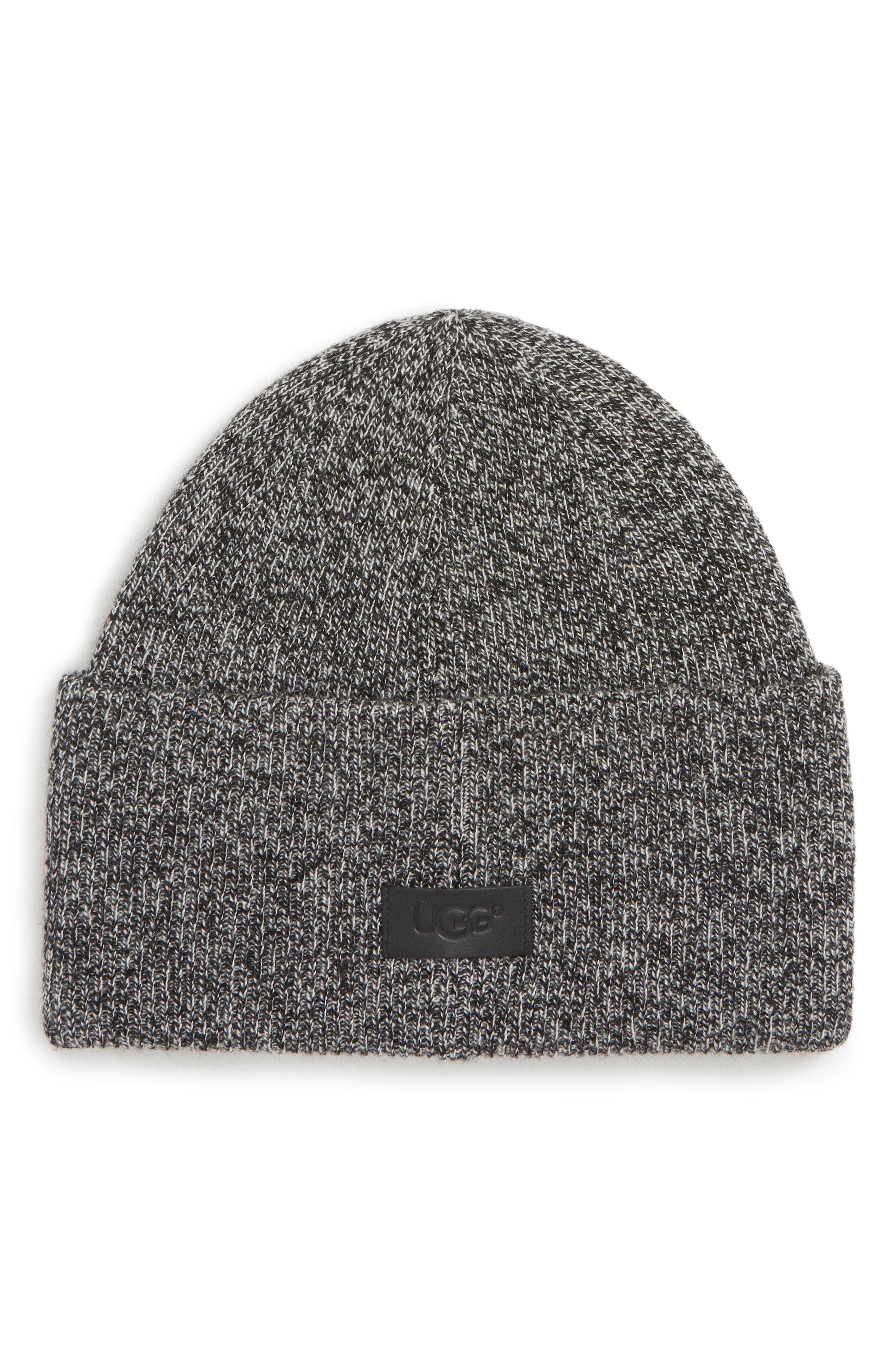 2eb081708 Lyst - UGG Ugg High Cuff Knit Wool & Cashmere Beanie in Gray for Men